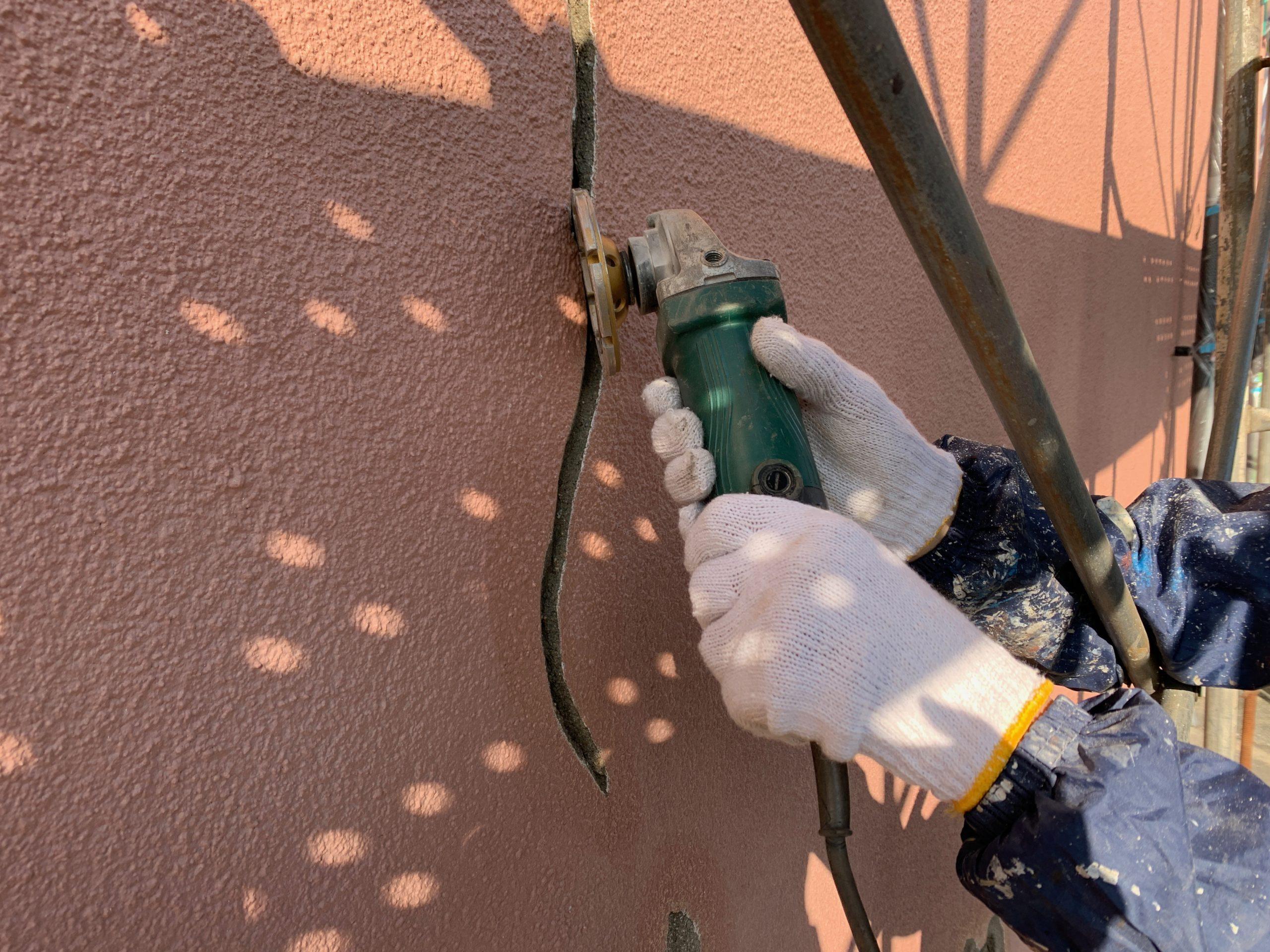 外壁塗装 佐賀 外壁 モルタル壁 補修 クラック ひび割れ クラック補修