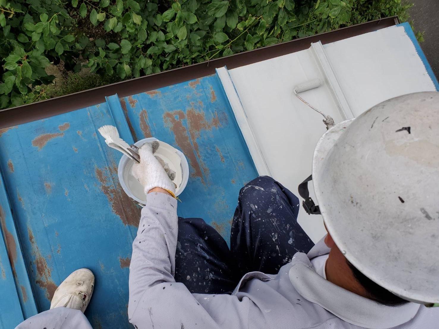 外壁塗装 佐賀 瓦棒 塗装 サビ止め塗装