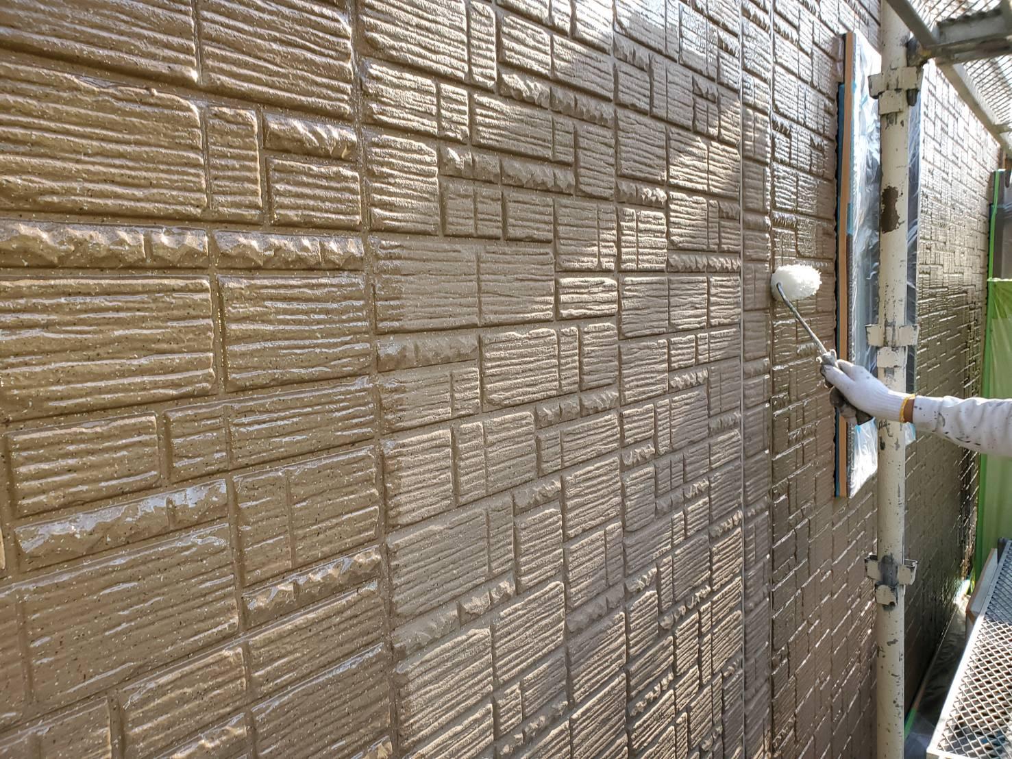 外壁塗装 佐賀 サイディングボード 塗装 下塗り