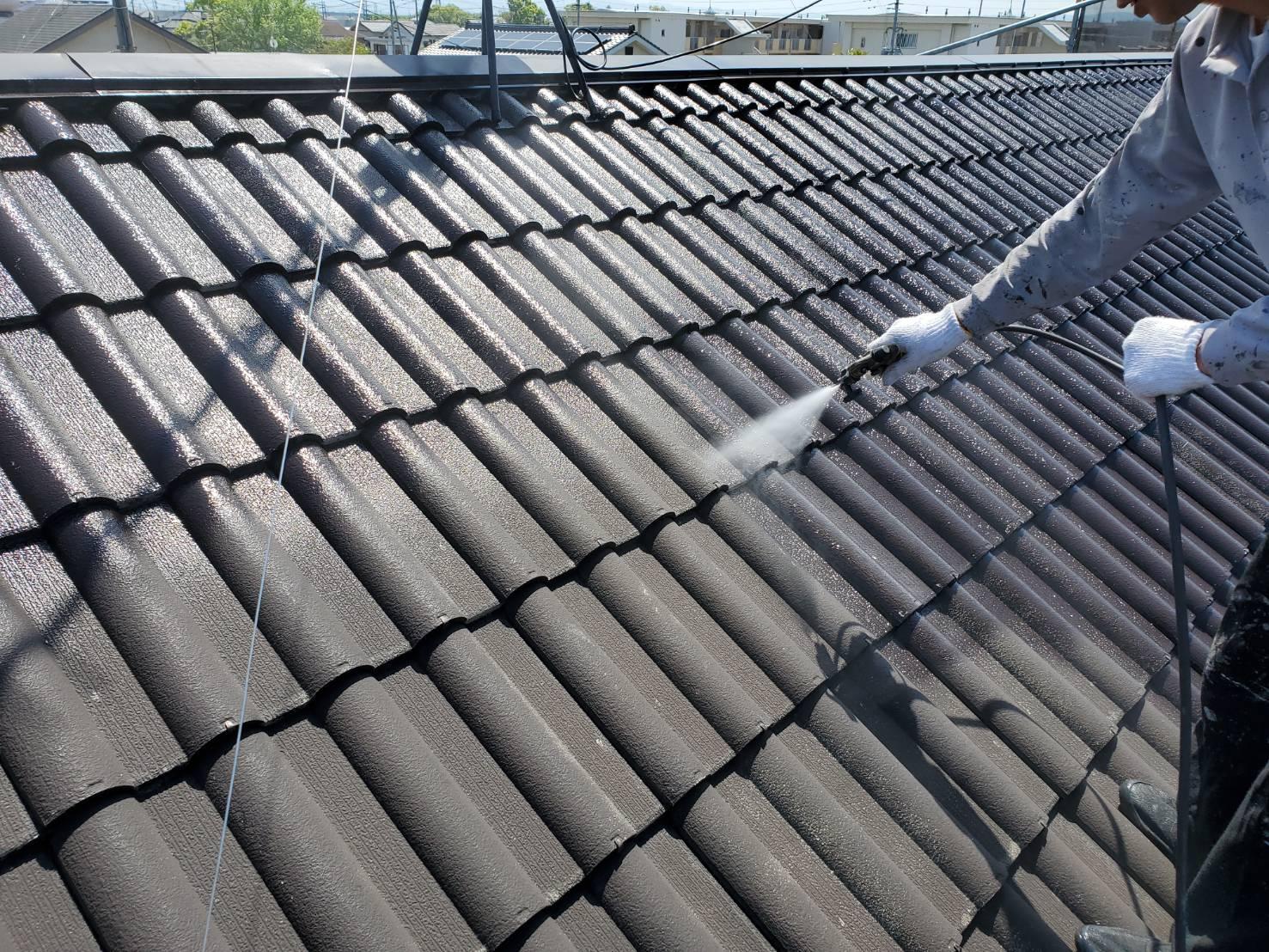 屋根塗装 佐賀 洋瓦 高圧洗浄