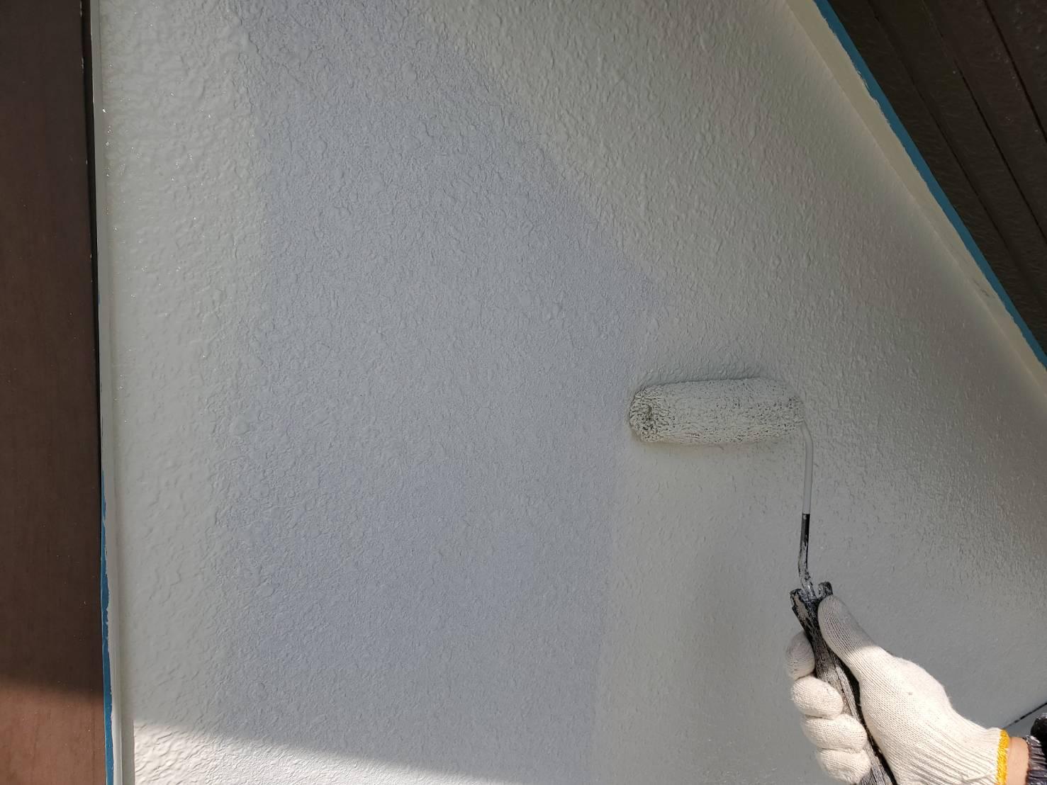 外壁塗装 佐賀 外壁 モルタル壁 塗装 中塗り