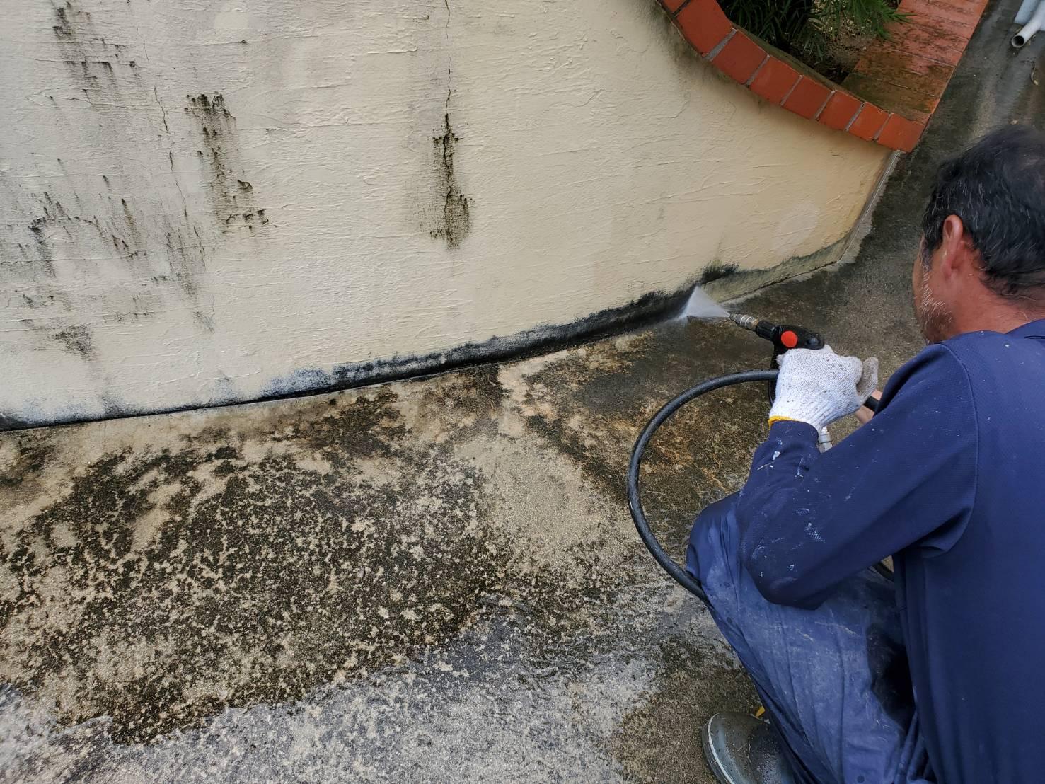 佐賀市 外壁塗装 塀 ひろし 高圧洗浄