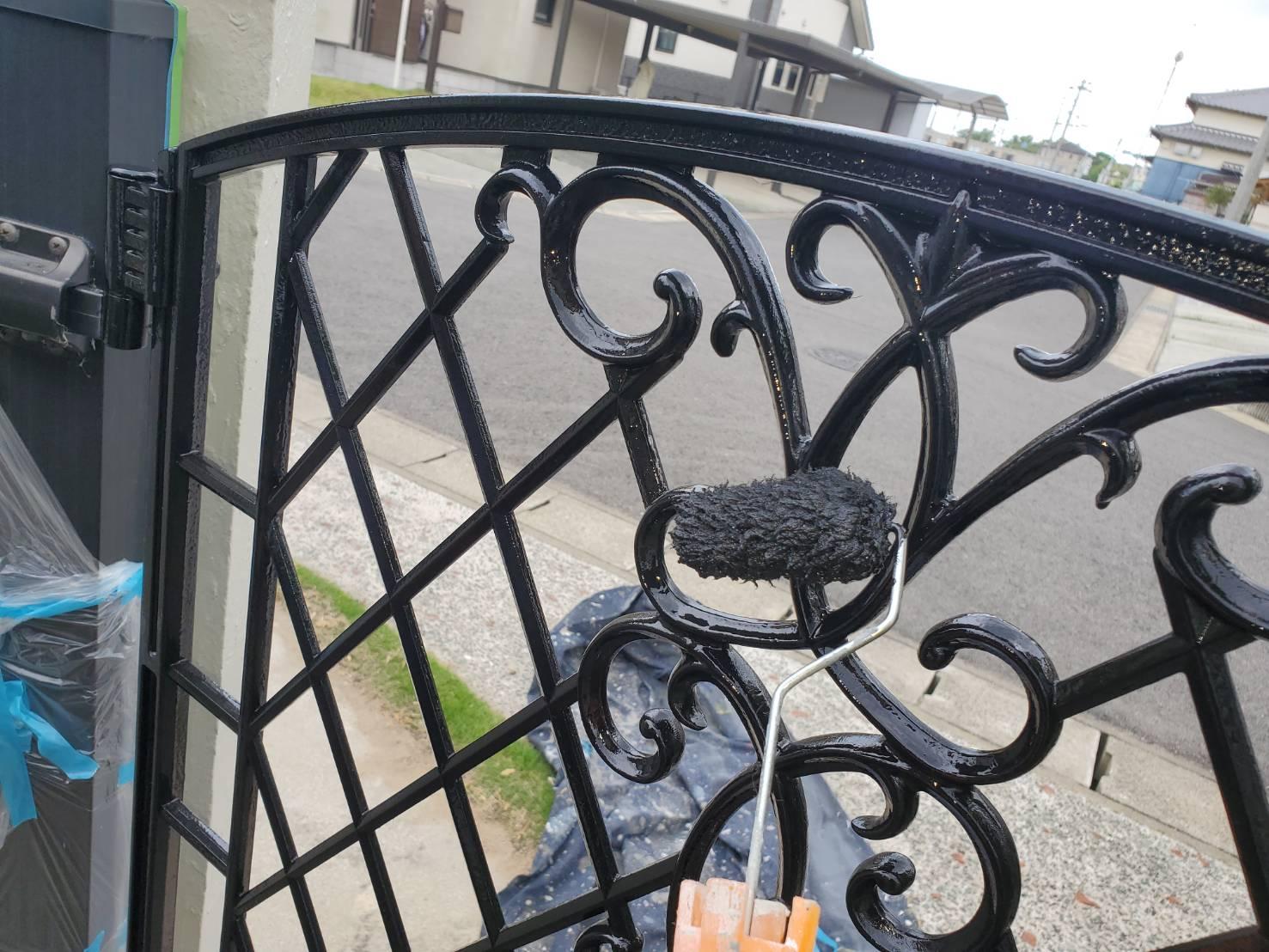 佐賀市 外壁塗装 塀塗装 塀 ひろし 板金部塗装
