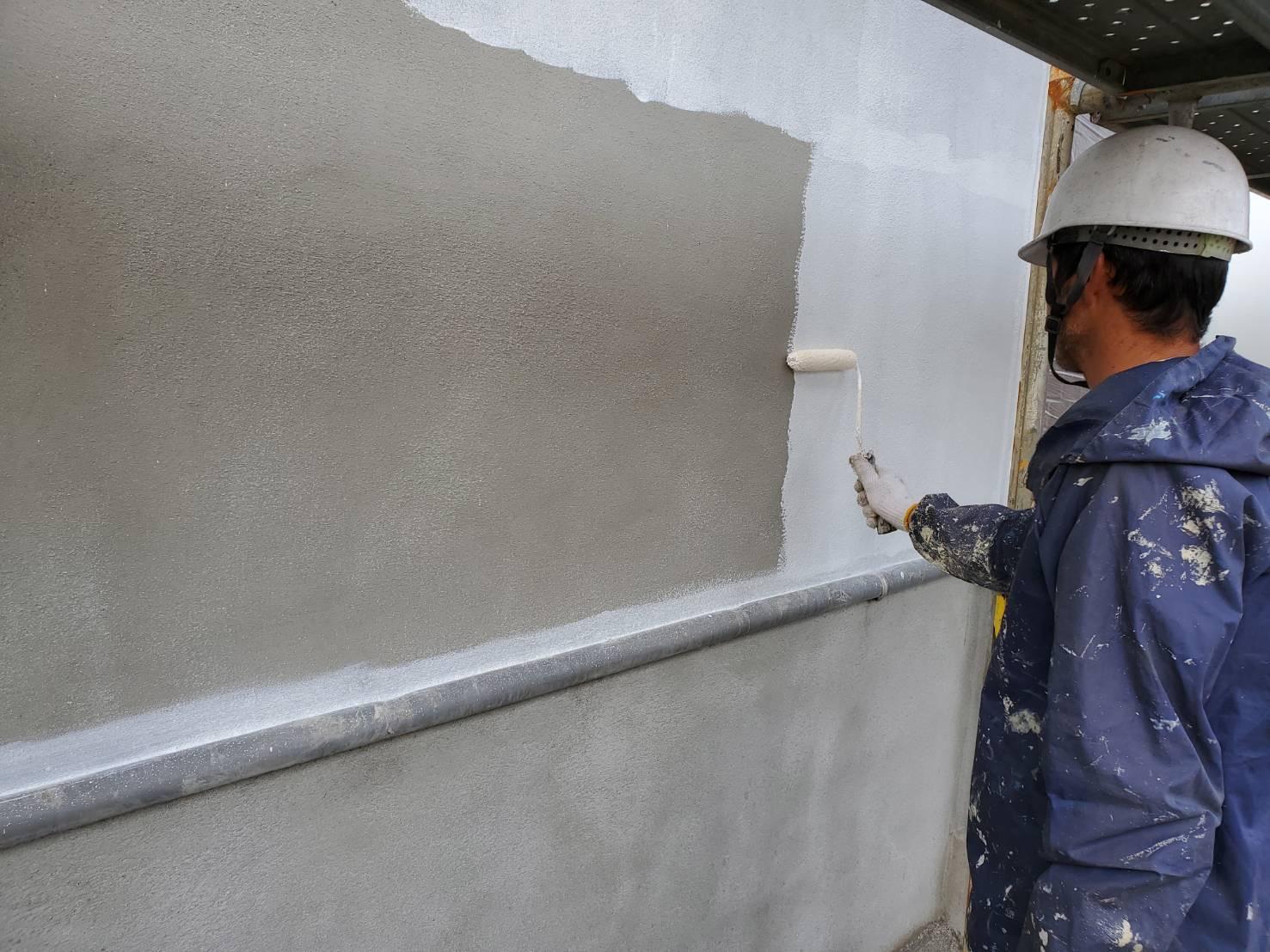外壁塗装 佐賀 中塗り