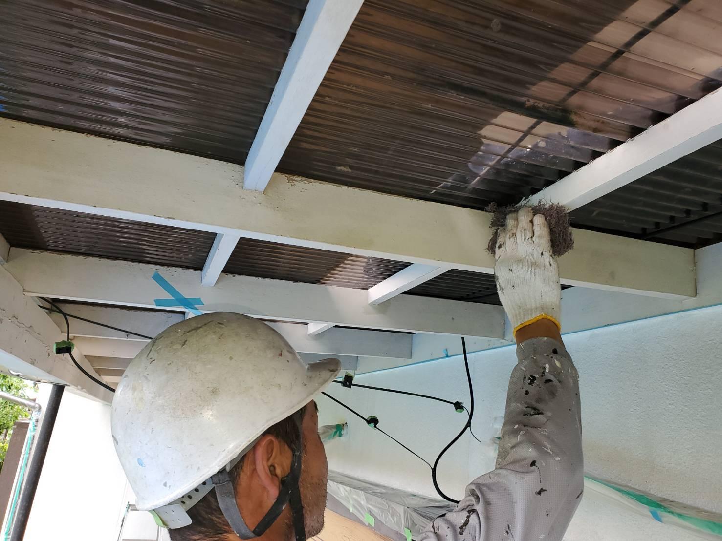 外壁塗装 佐賀 テラス 下地処理