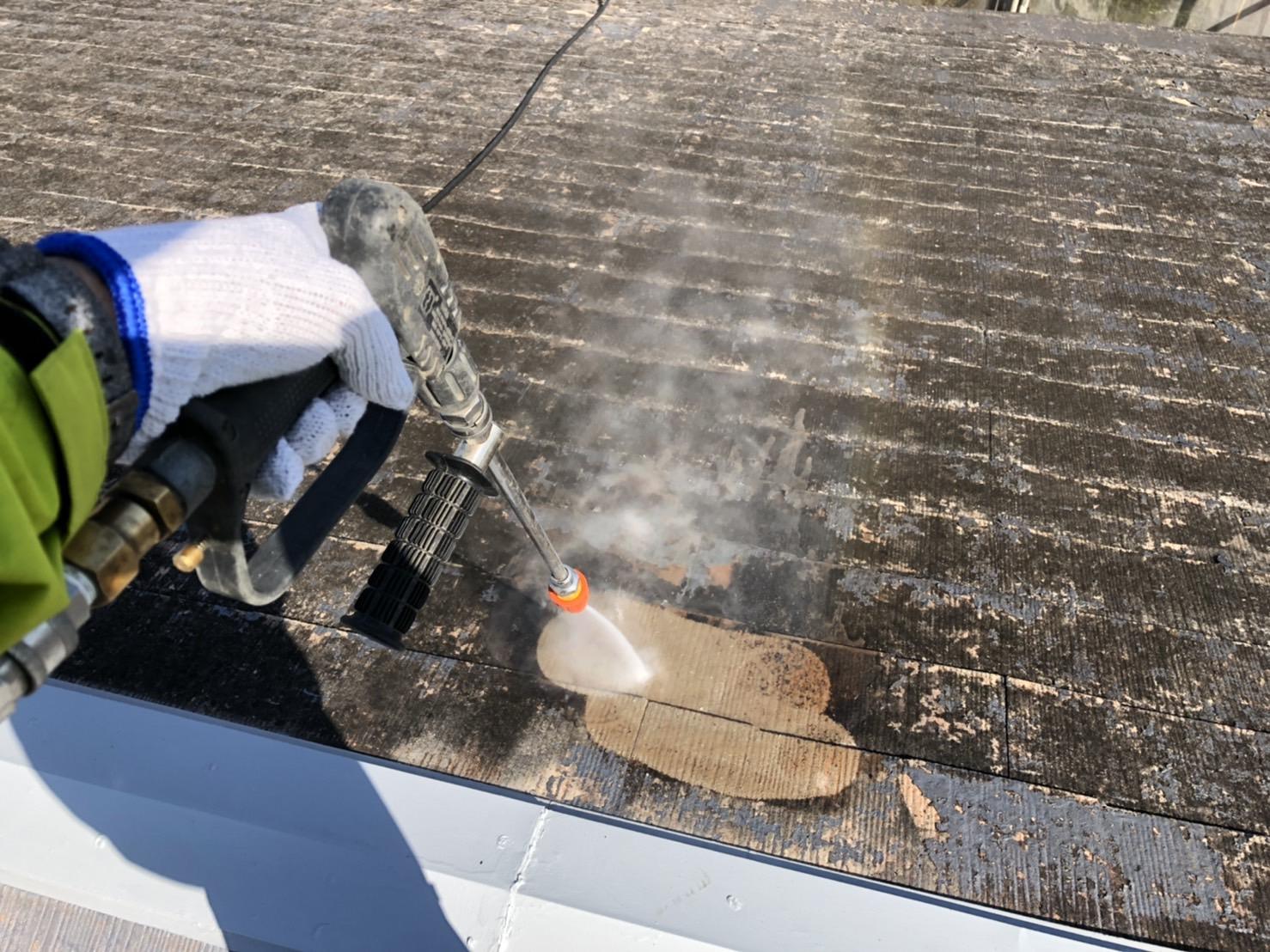 外壁塗装 佐賀 コロニアル屋根 スレート屋根 高圧洗浄