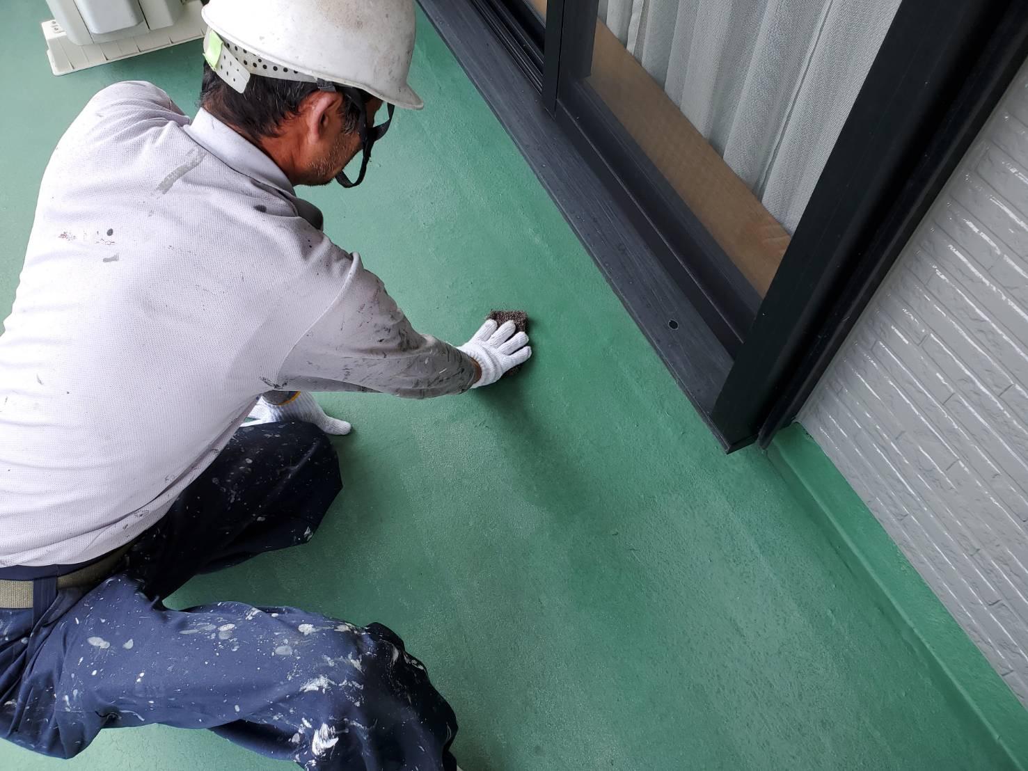 外壁塗装 佐賀 ベランダ 下地処理