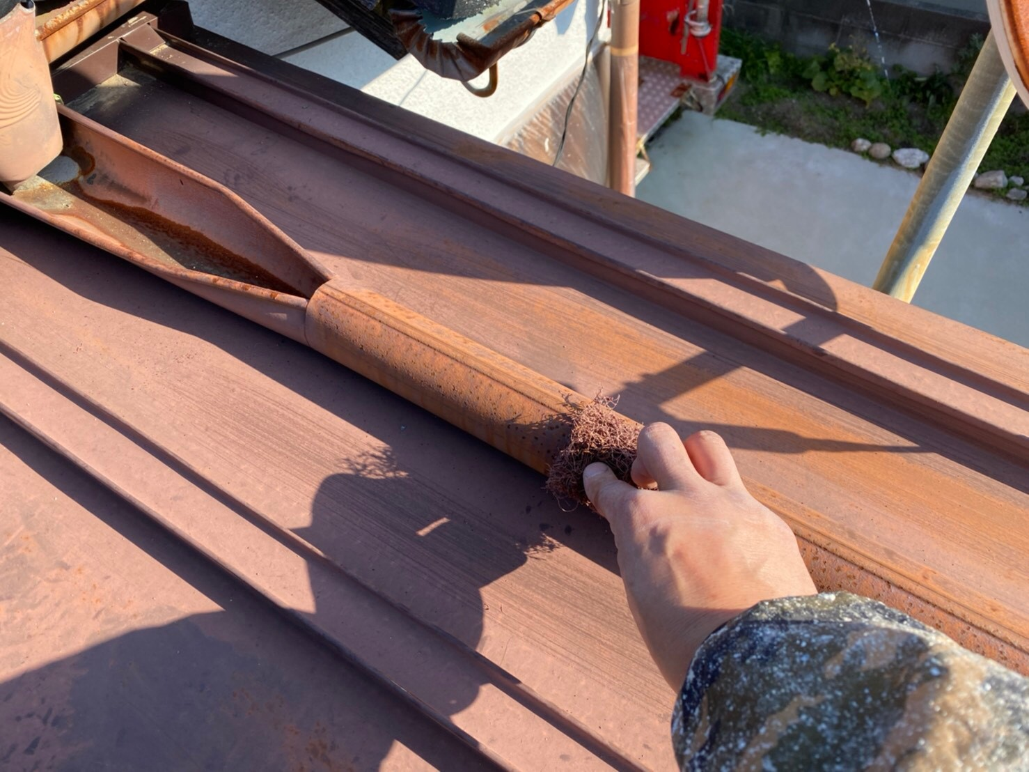 外壁塗装 佐賀 トタン屋根 ケレン