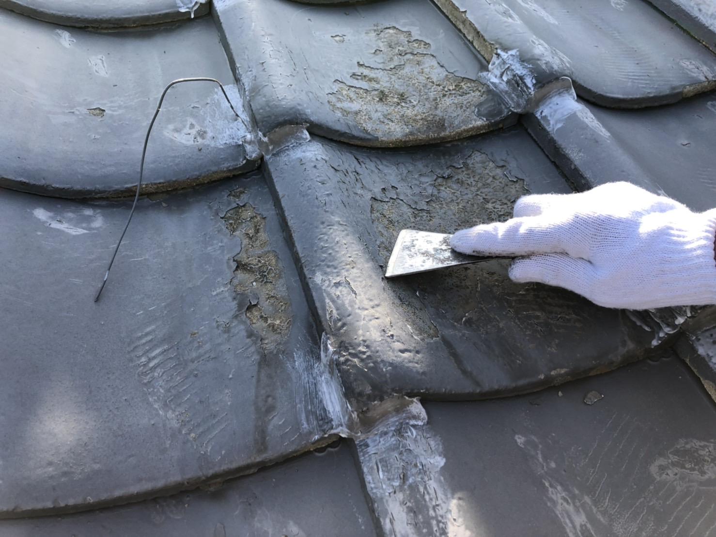 屋根塗装 佐賀 瓦屋根 ケレン