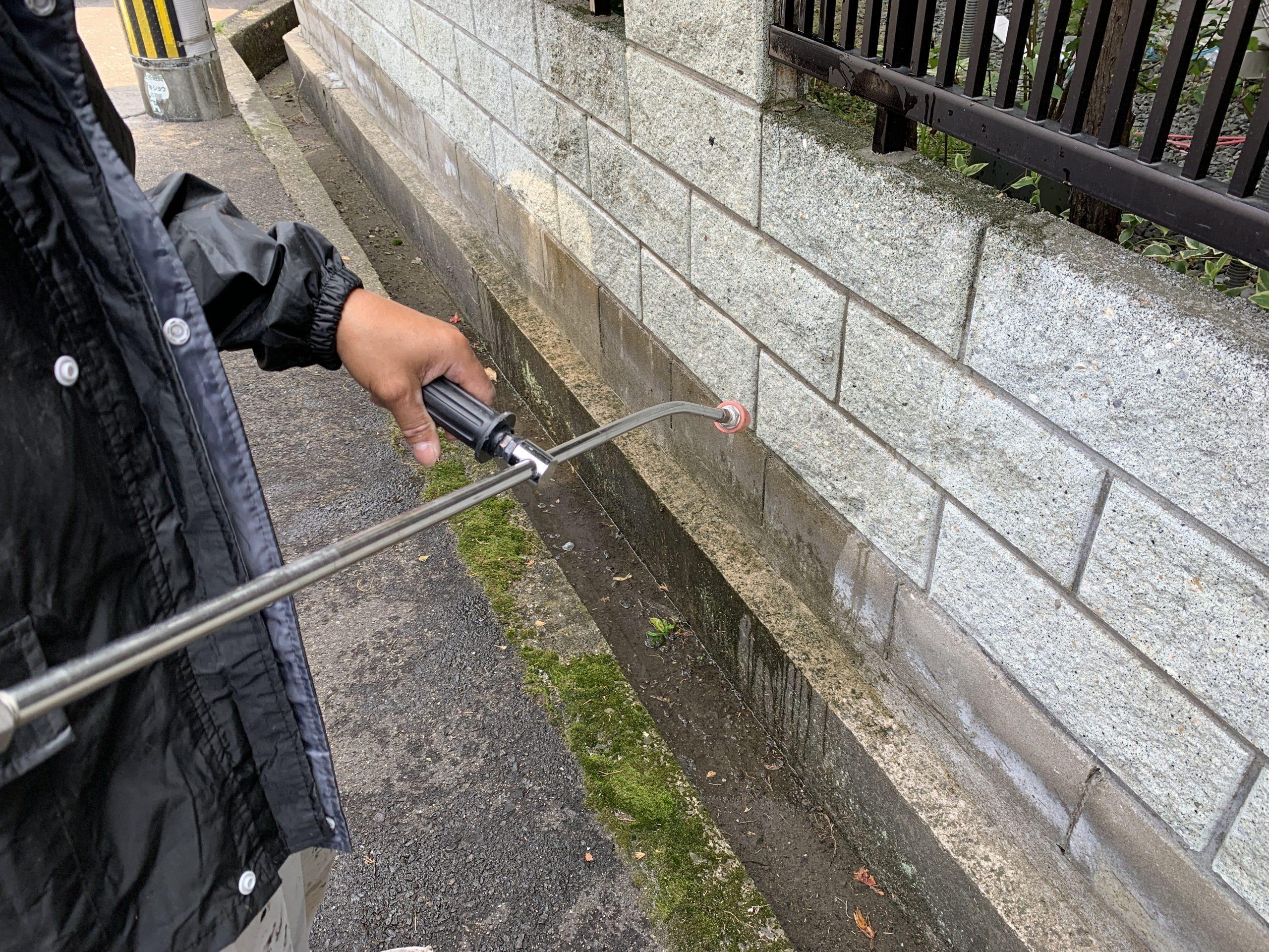 外壁塗装 佐賀 塀 洗浄 高圧洗浄