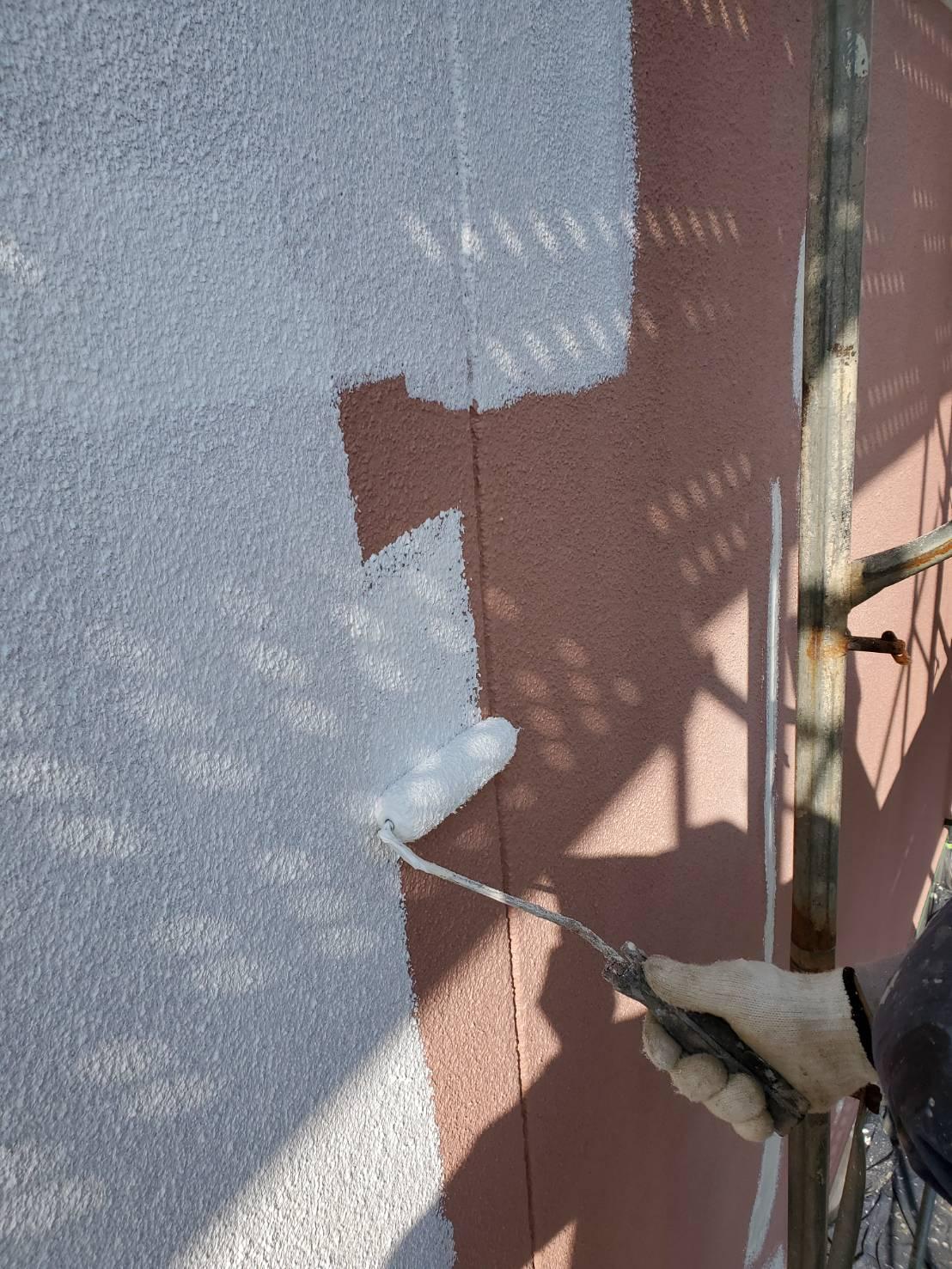 外壁塗装 佐賀 外壁 モルタル壁 塗装 下塗り