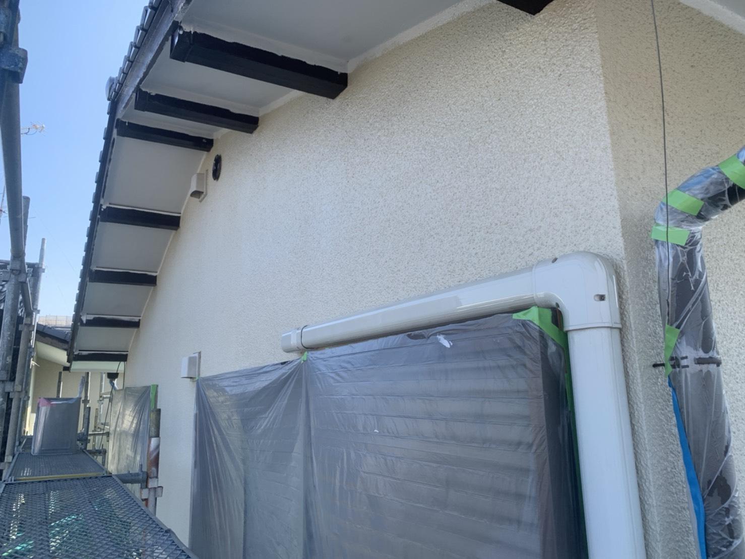 外壁塗装 佐賀 モルタル壁 上塗り