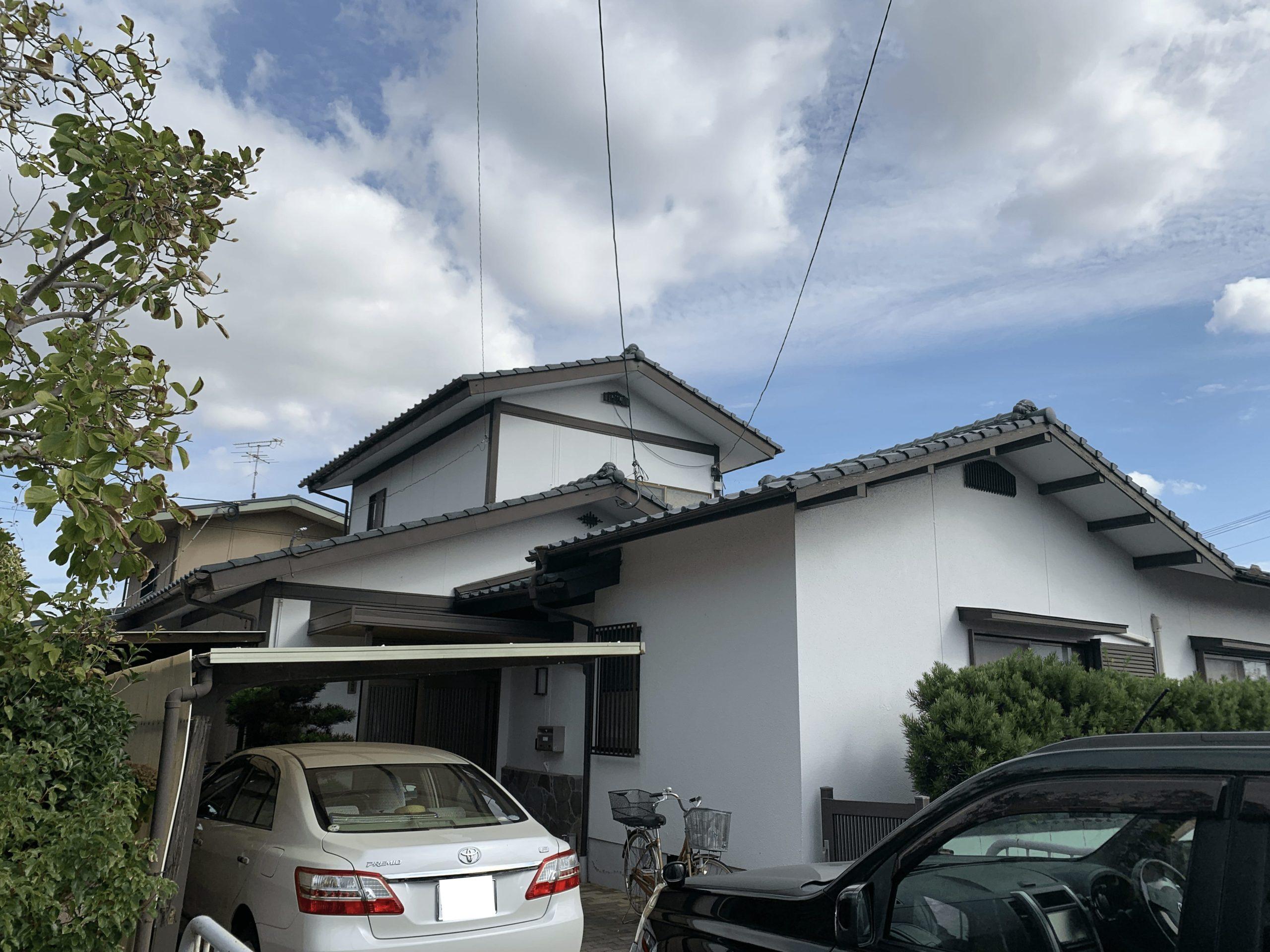 外壁塗装 佐賀 モルタル壁 瓦屋根