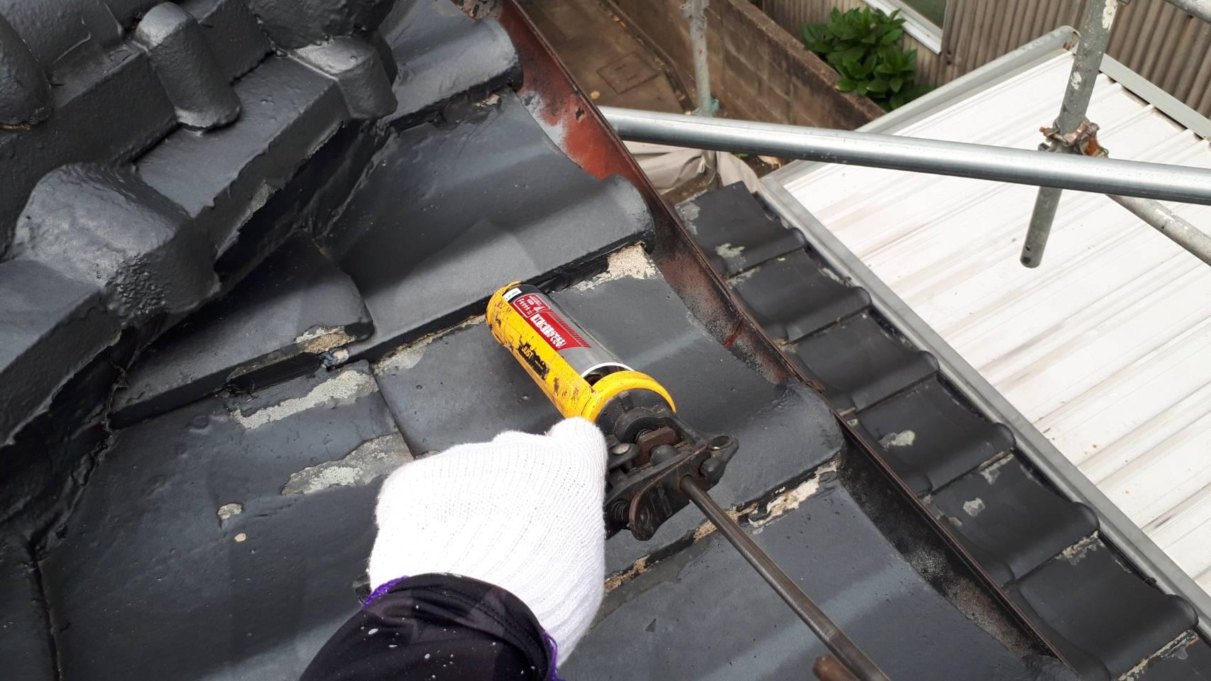 外壁塗装 佐賀 瓦屋根 補修 瓦補修