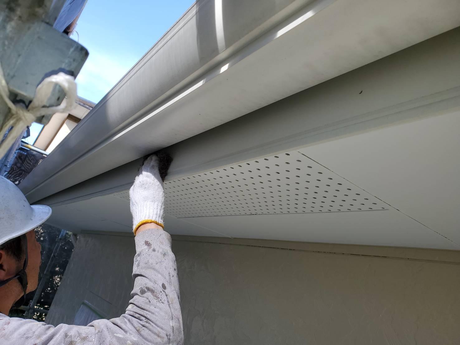 外壁塗装 佐賀 付帯部 木部 破風板 下地処理 ケレン