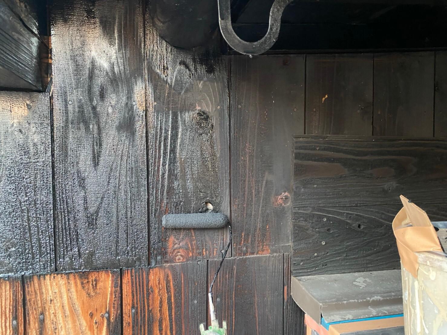 外壁塗装 佐賀 木部 下塗り