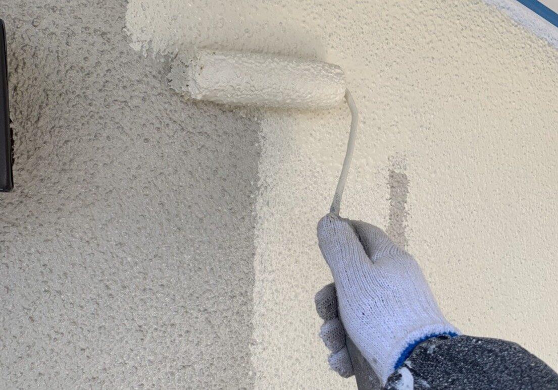 外壁塗装 佐賀 モルタル壁 下塗り