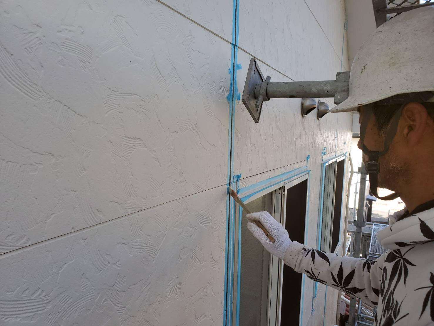 外壁塗装 佐賀 外壁 サイディングボード コーキングプライマー塗り コーキング シーリング プライマー塗り