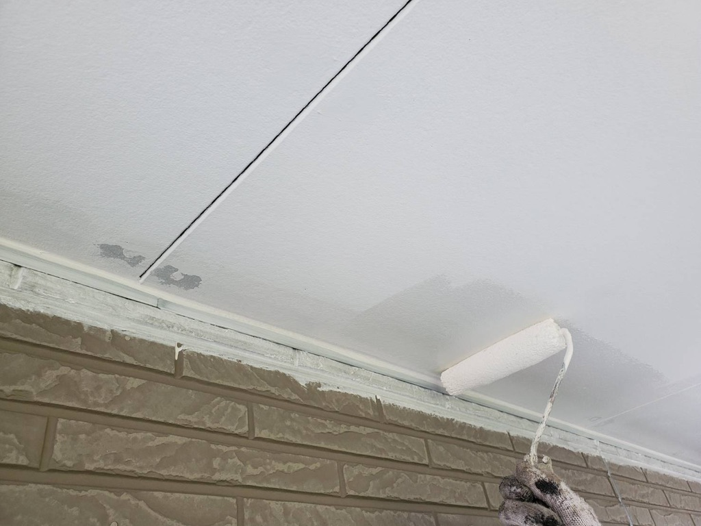 外壁塗装 佐賀 軒下天井 軒天 塗装