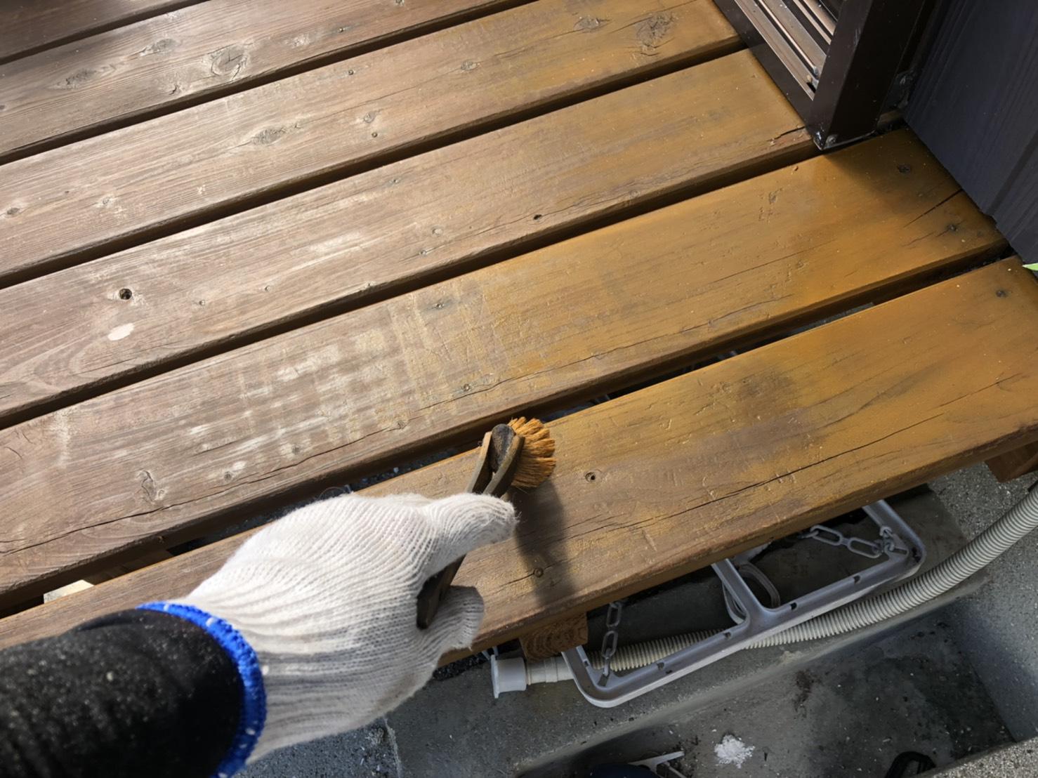 外壁塗装 佐賀 木部 ベランダ