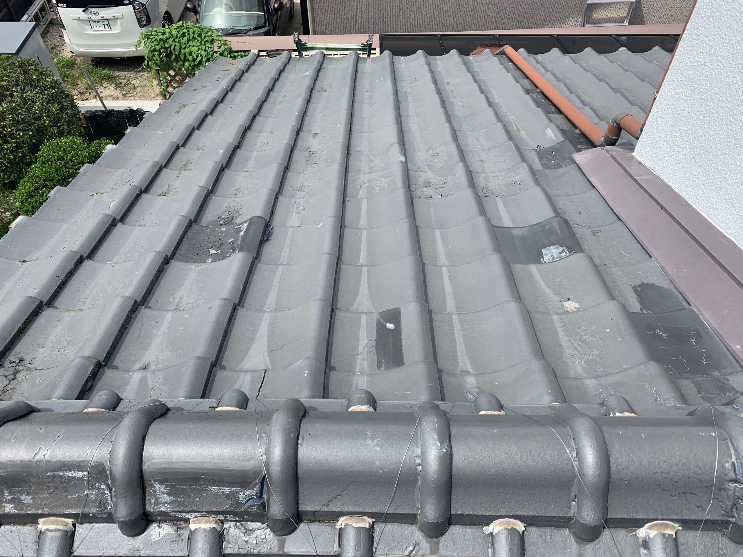 外壁塗装 佐賀 屋根 瓦屋根 台風