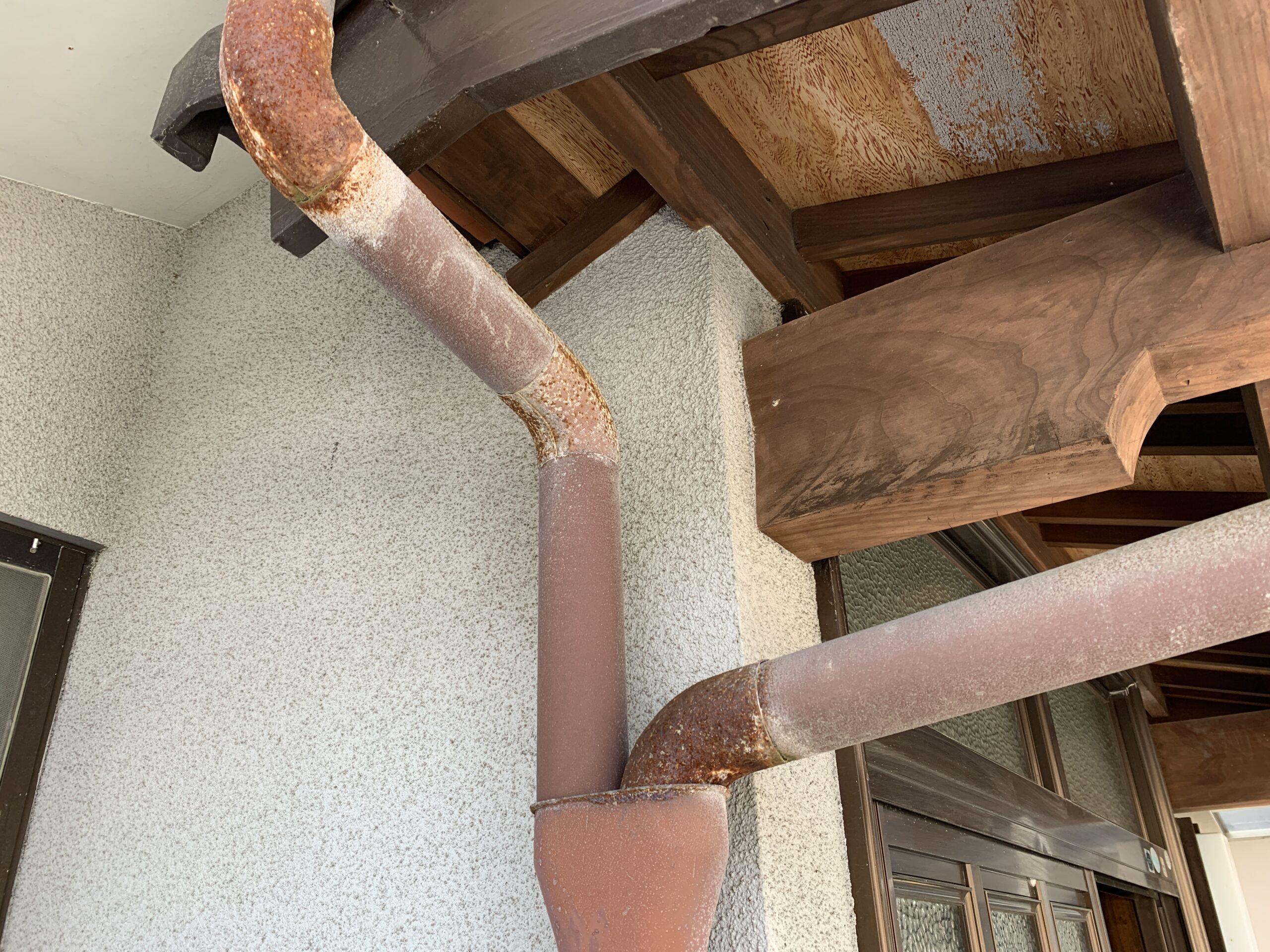 外壁塗装 佐賀 雨樋 赤サビ