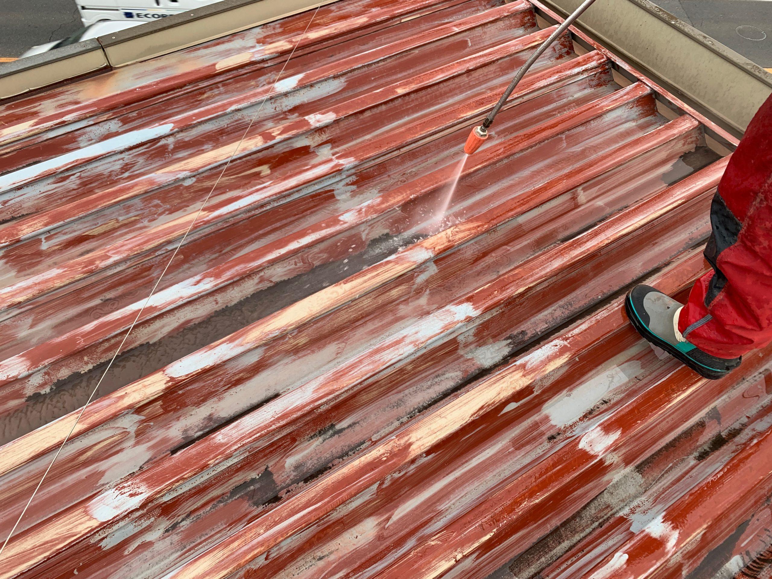 外壁塗装 佐賀 屋根 金属 サビ 洗浄 高圧洗浄