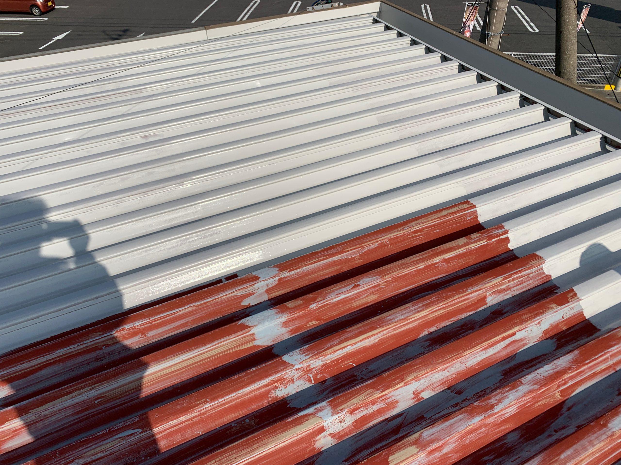 外壁塗装 佐賀 屋根 金属 サビ 塗装 サビ止め塗装 下塗り