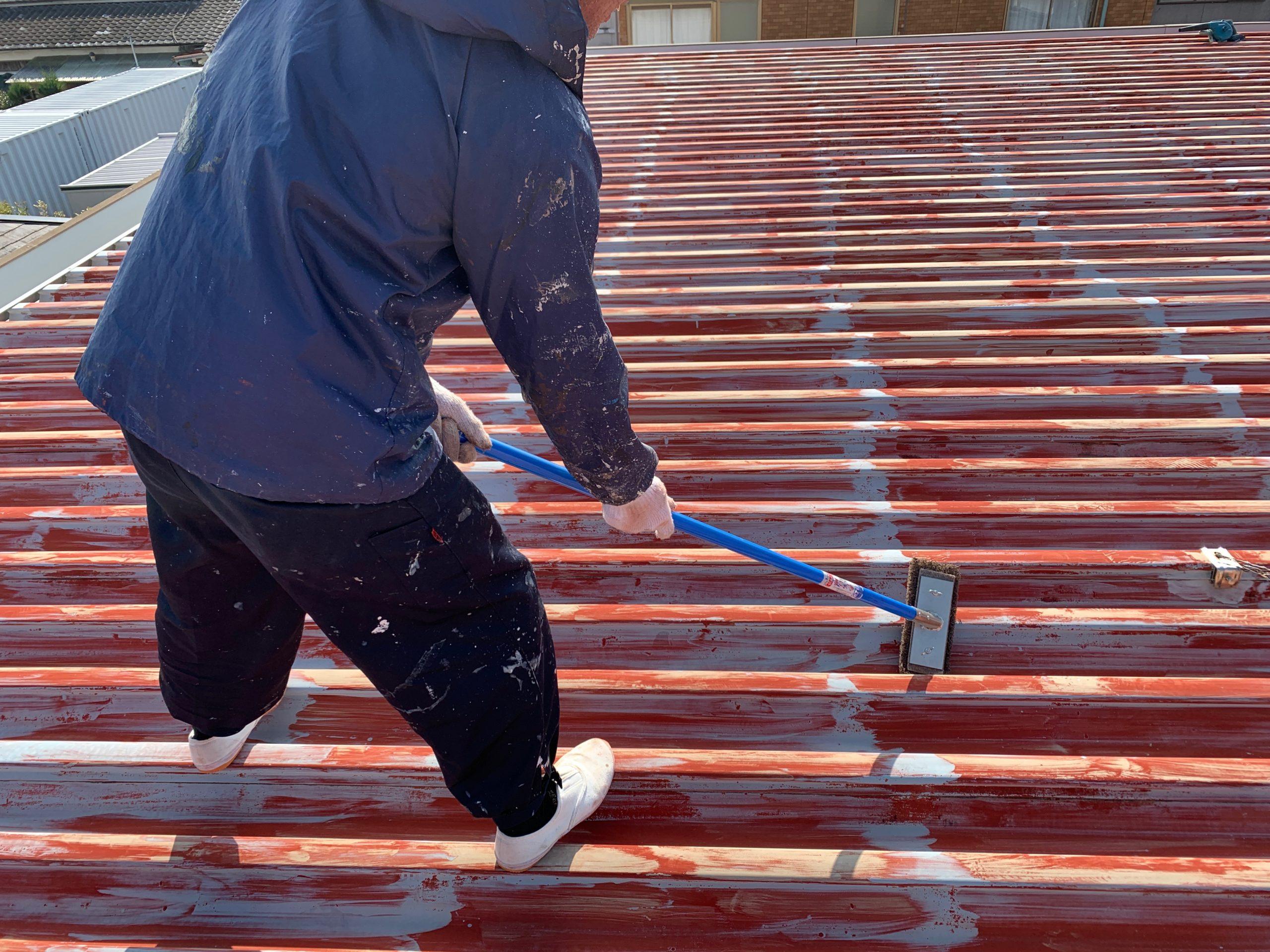 外壁塗装 佐賀 屋根 金属 サビ 下地処理 ケレン