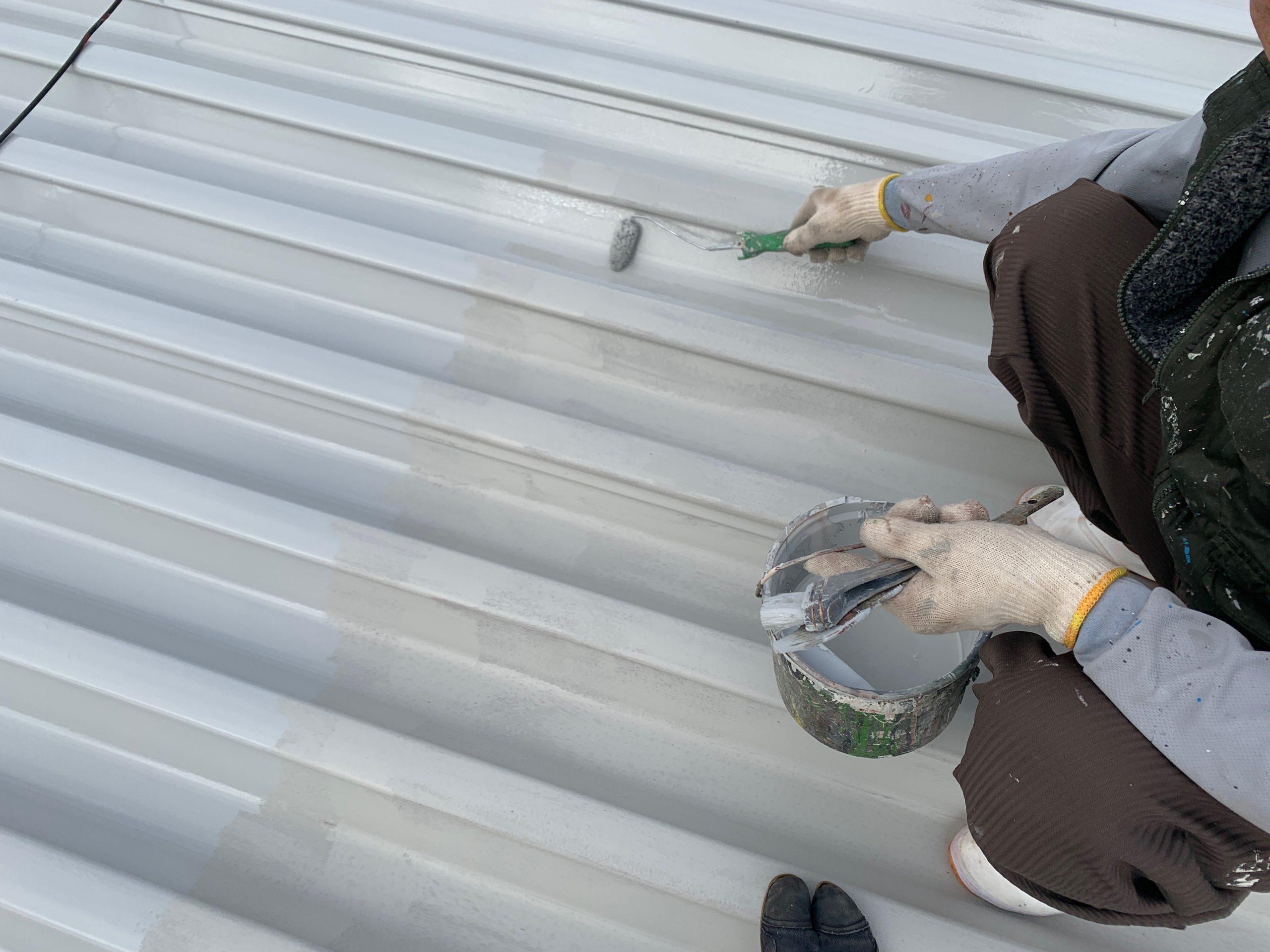 外壁塗装 佐賀 屋根 金属 サビ 塗装 サビ止め塗装 中塗り