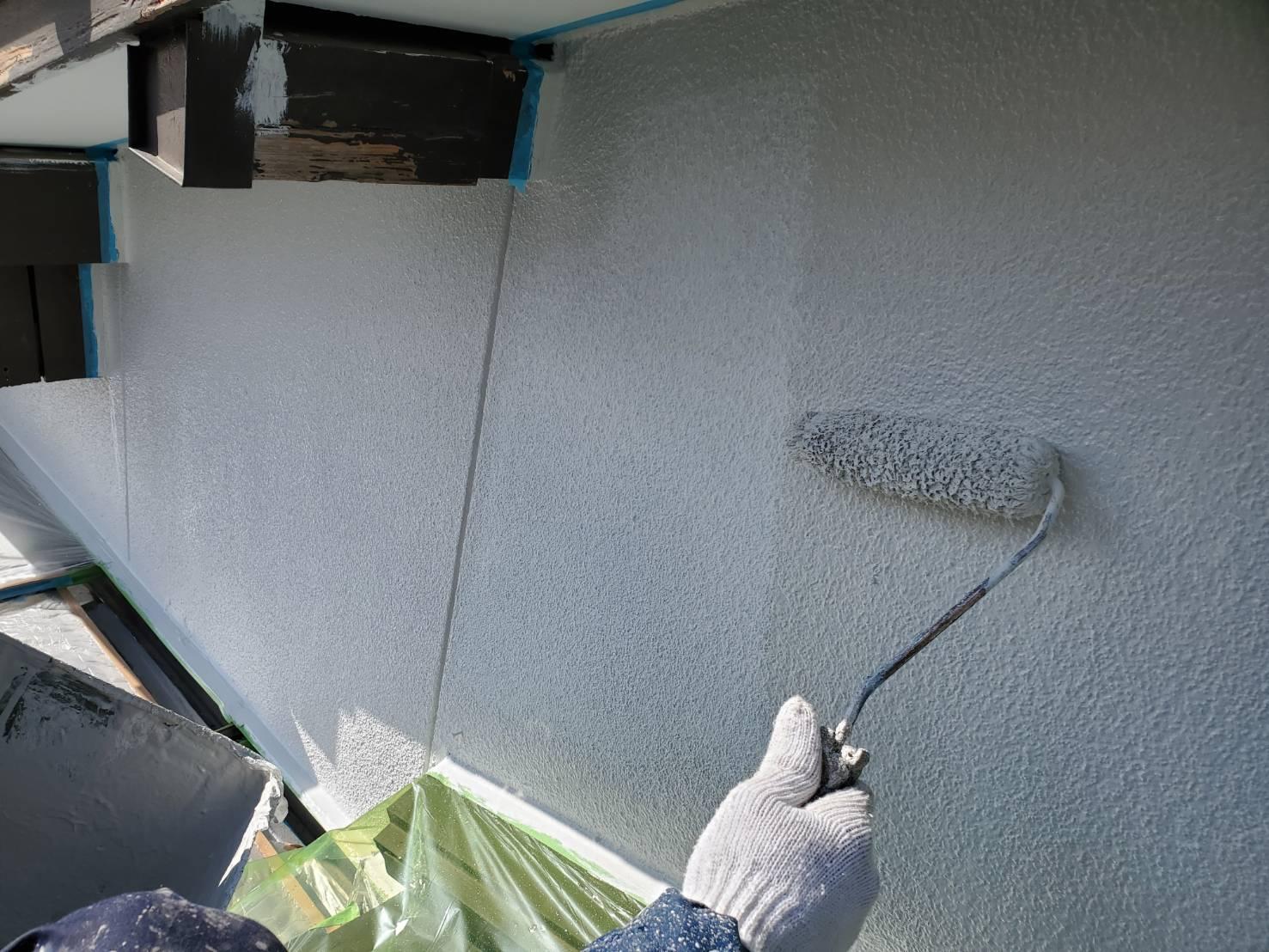 外壁塗装 佐賀 外壁 中塗り モルタル