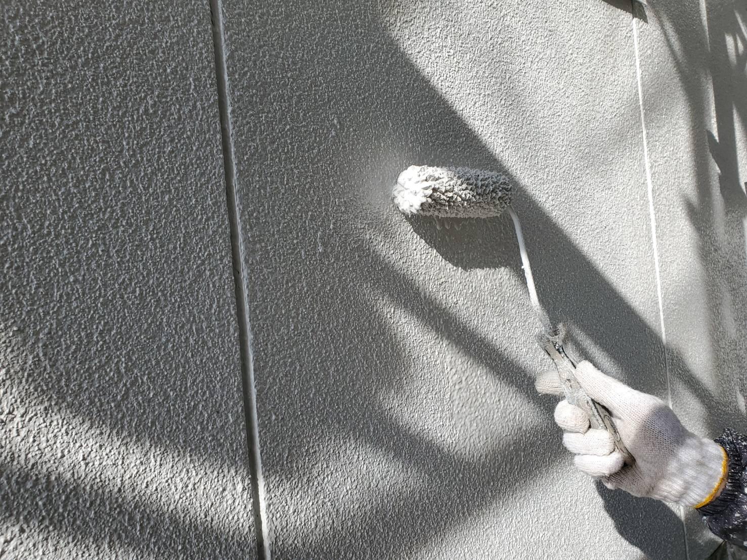 外壁塗装 佐賀 外壁 上塗り モルタル