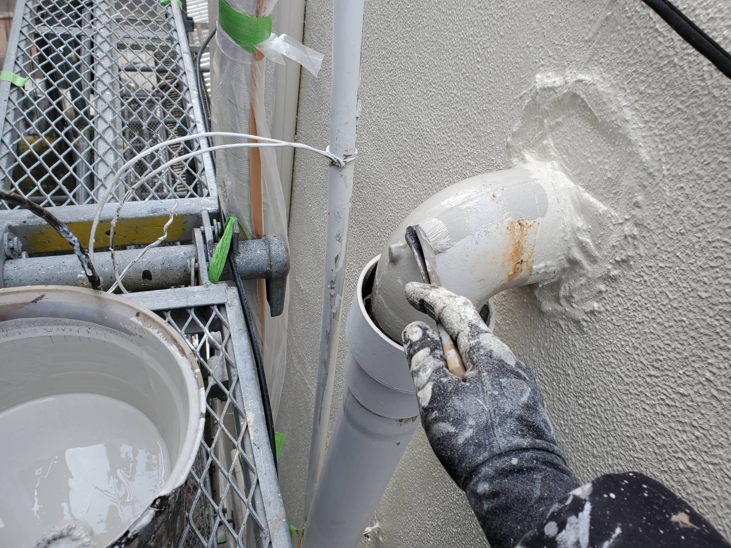 外壁塗装 佐賀 板金部 塗装