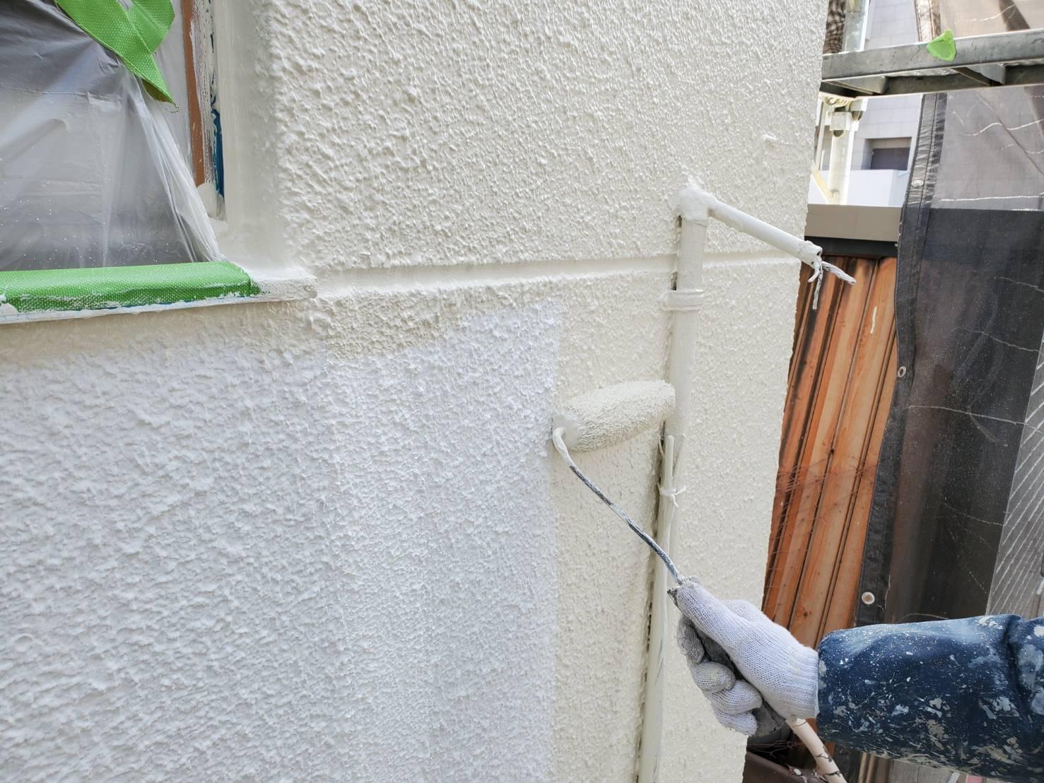 外壁塗装 佐賀 外壁 中塗り
