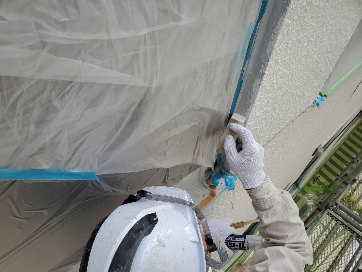外壁塗装 佐賀 サッシ ケレン