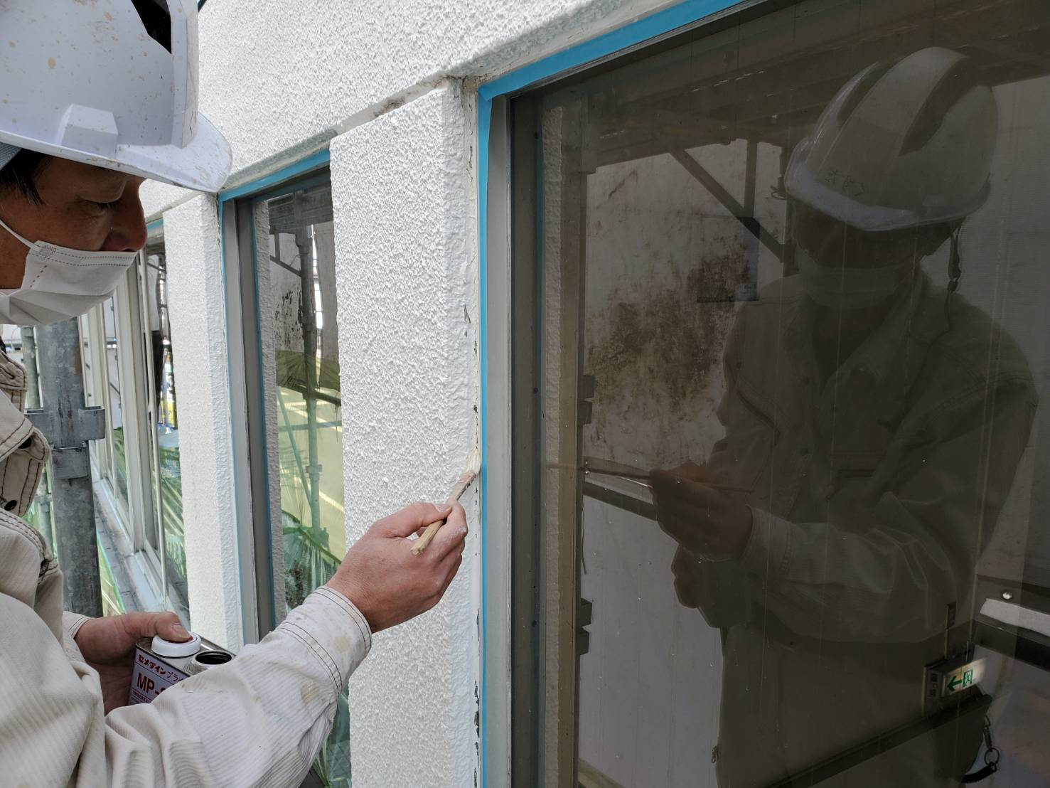 外壁塗装 佐賀 サッシ 塗装