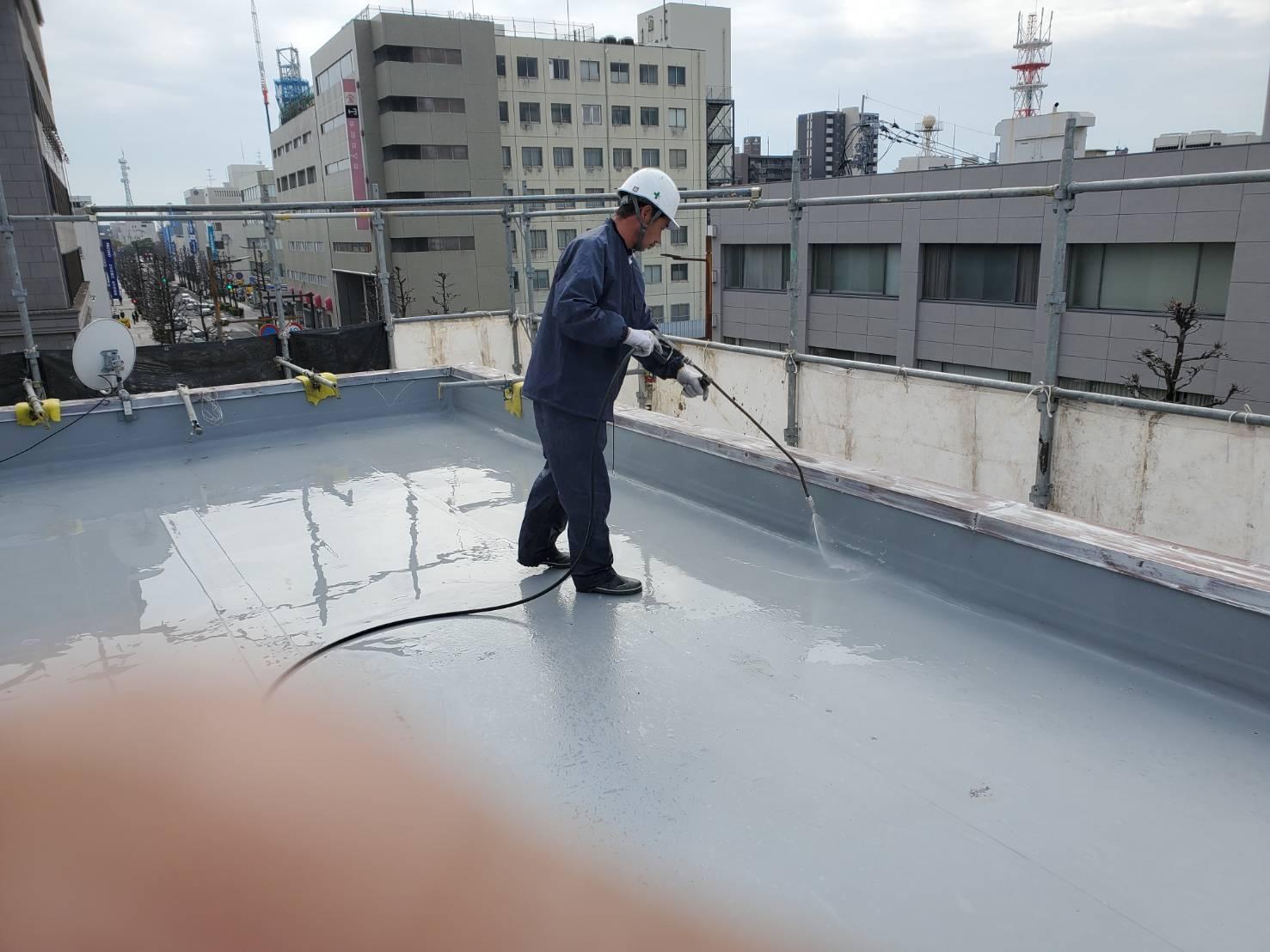 外壁塗装 佐賀 屋上 高圧洗浄