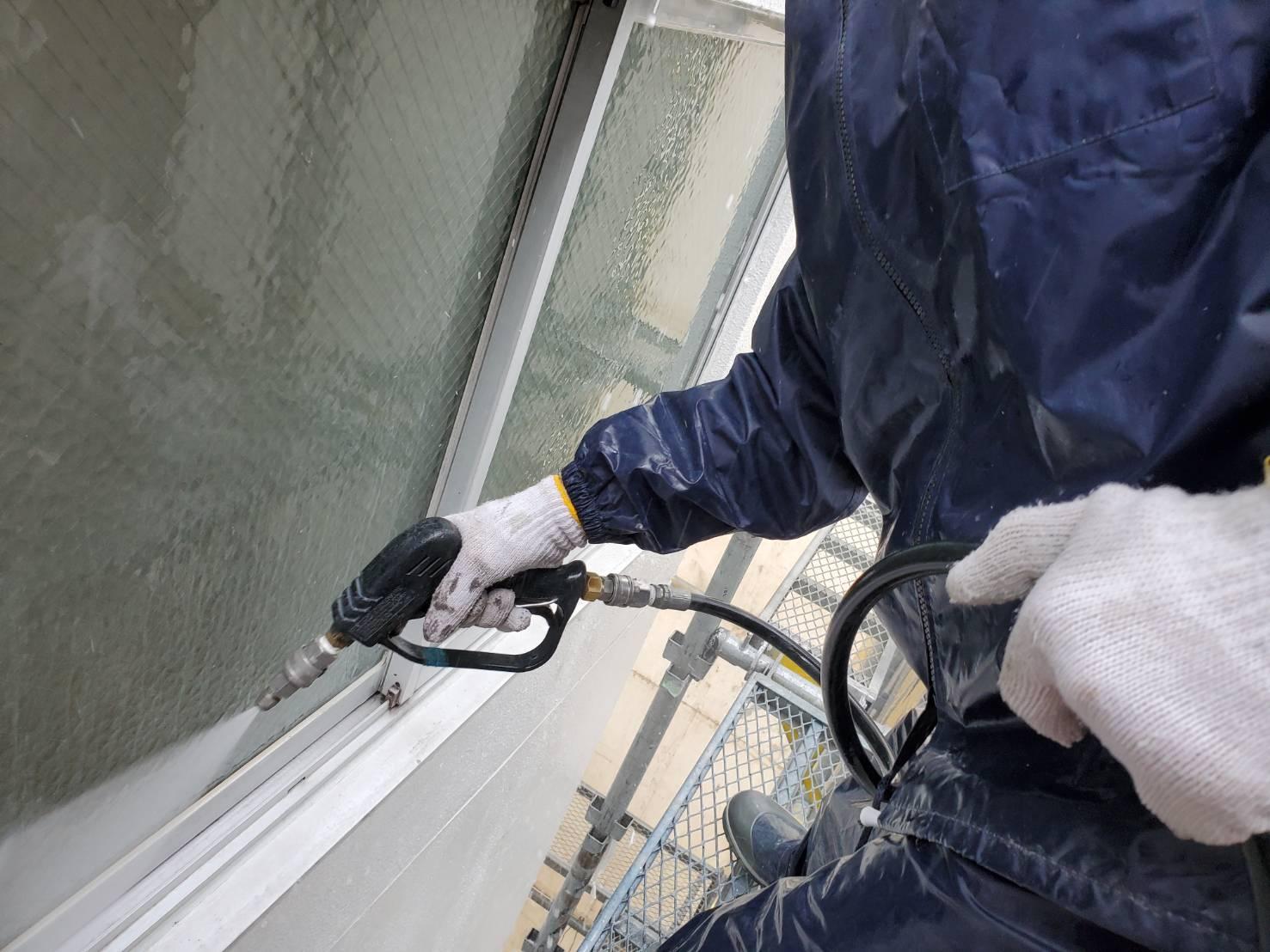外壁塗装 佐賀 サッシ 高圧洗浄