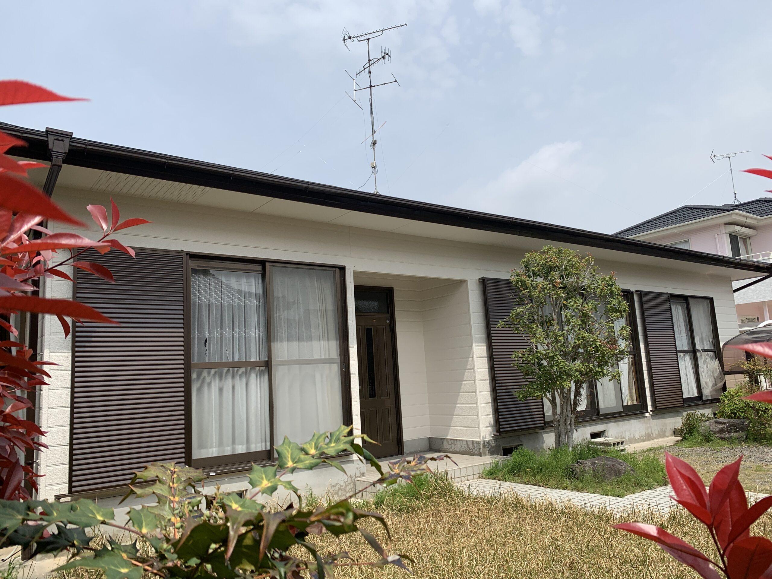 外壁塗装 佐賀 スレート屋根 軒下天井 軒天 雨樋 破風板