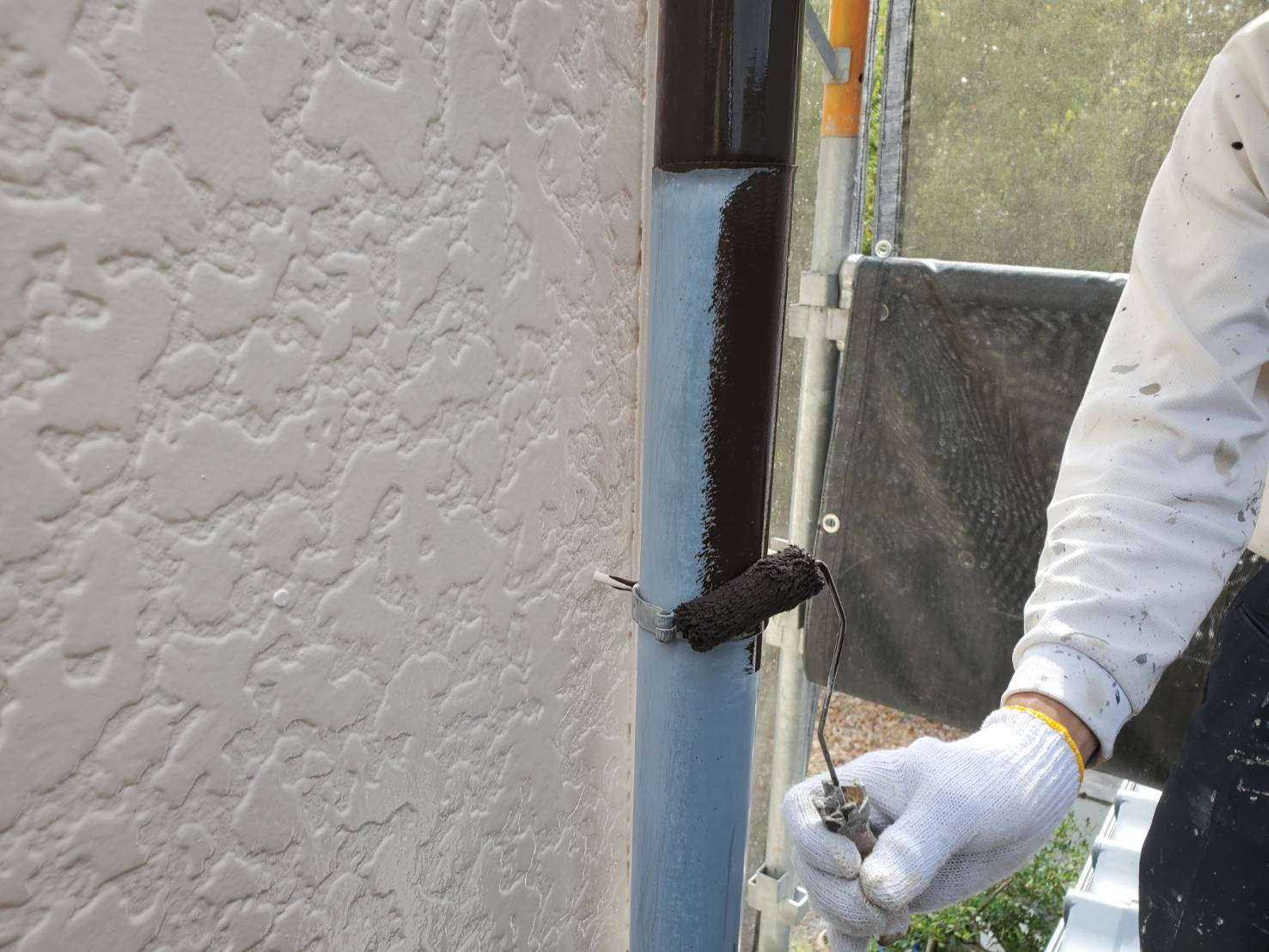 外壁塗装 佐賀 付帯部 雨樋 塗装