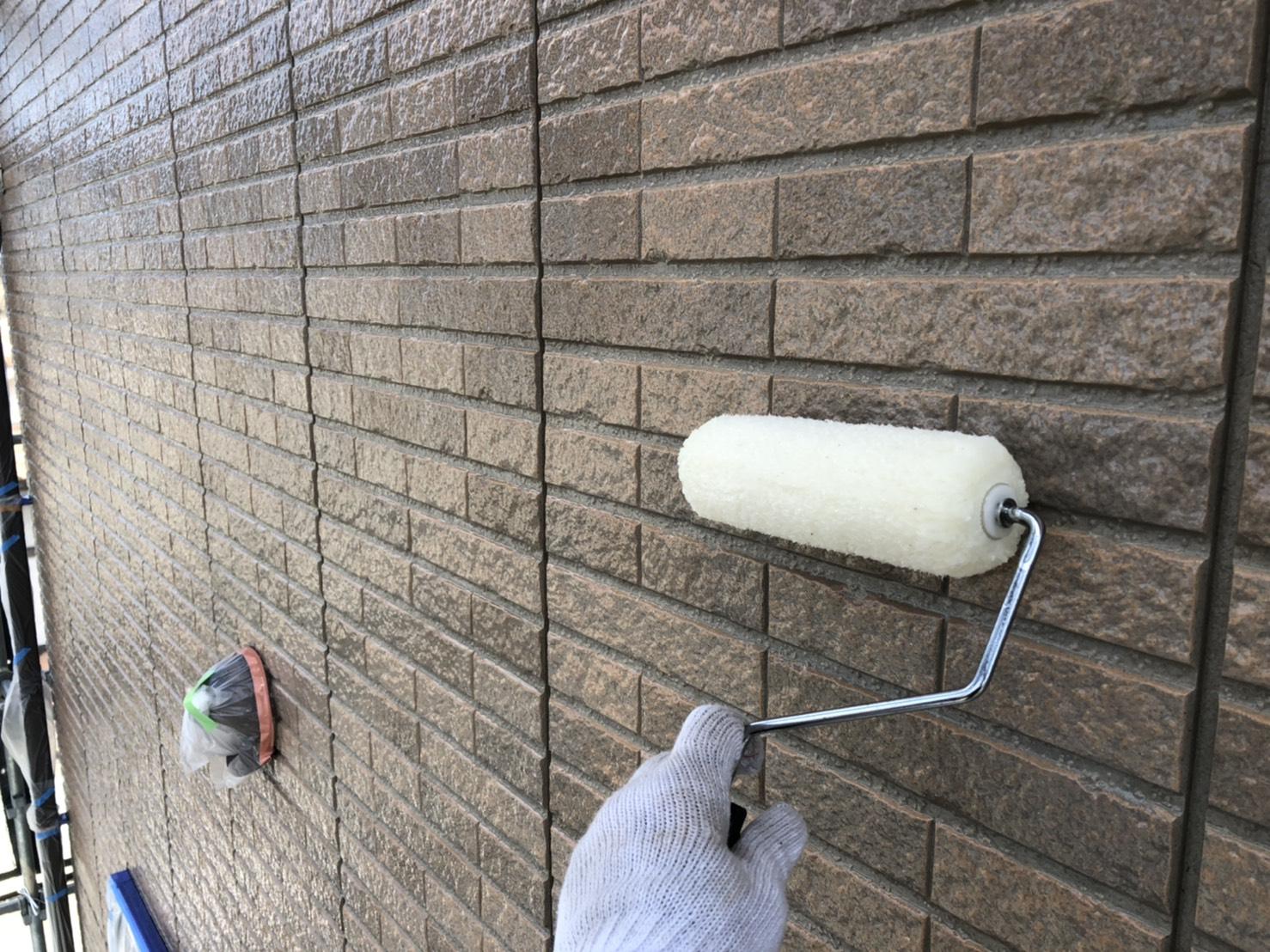 外壁塗装 佐賀 外壁 サイディングボード 塗装 中塗り