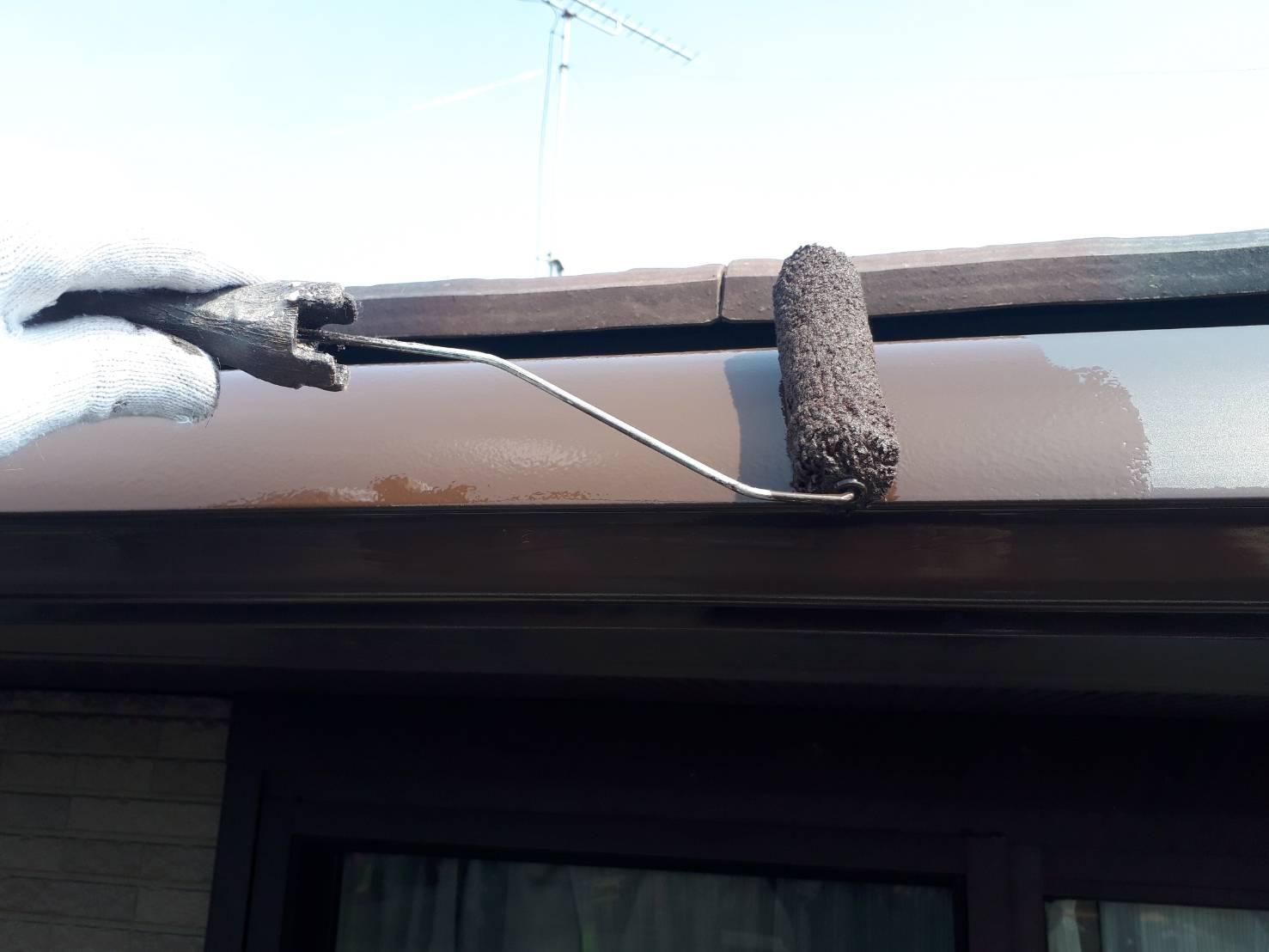 外壁塗装 佐賀 付帯部 破風板 塗装