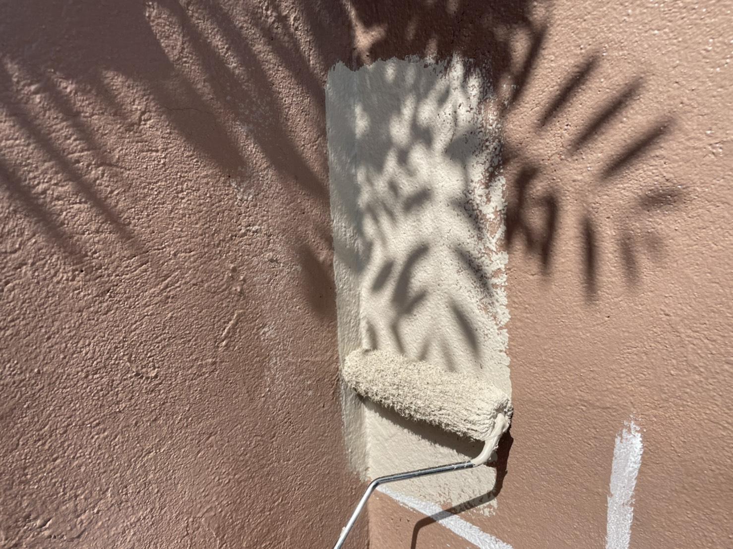 外壁塗装 佐賀 塀塗装 塗装 中塗り
