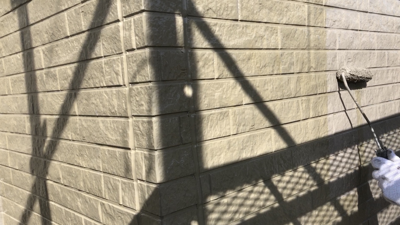 外壁塗装 佐賀 外壁 サイディングボード 塗装 上塗り
