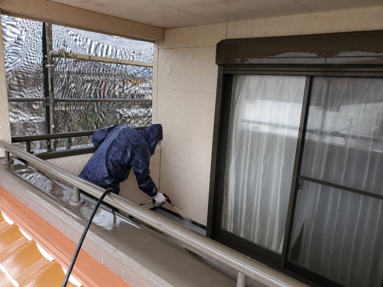 佐賀市 塗るばい サニケン さにけん 外壁塗装 外壁 塗装 施工日記 高圧洗浄