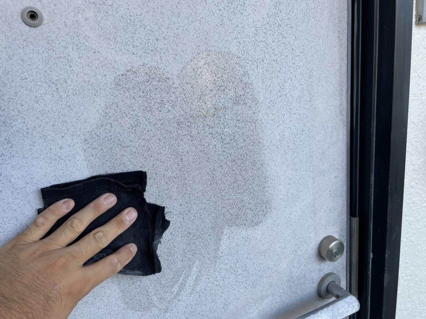 佐賀市 外壁塗装 塗るばい サニー建設商事 サニケン さにけん 玄関扉 塗装
