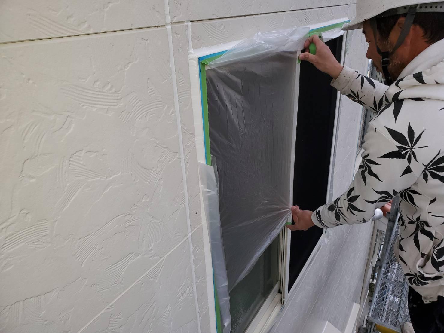 外壁塗装 佐賀 外壁 サイディングボード 下地処理 養生