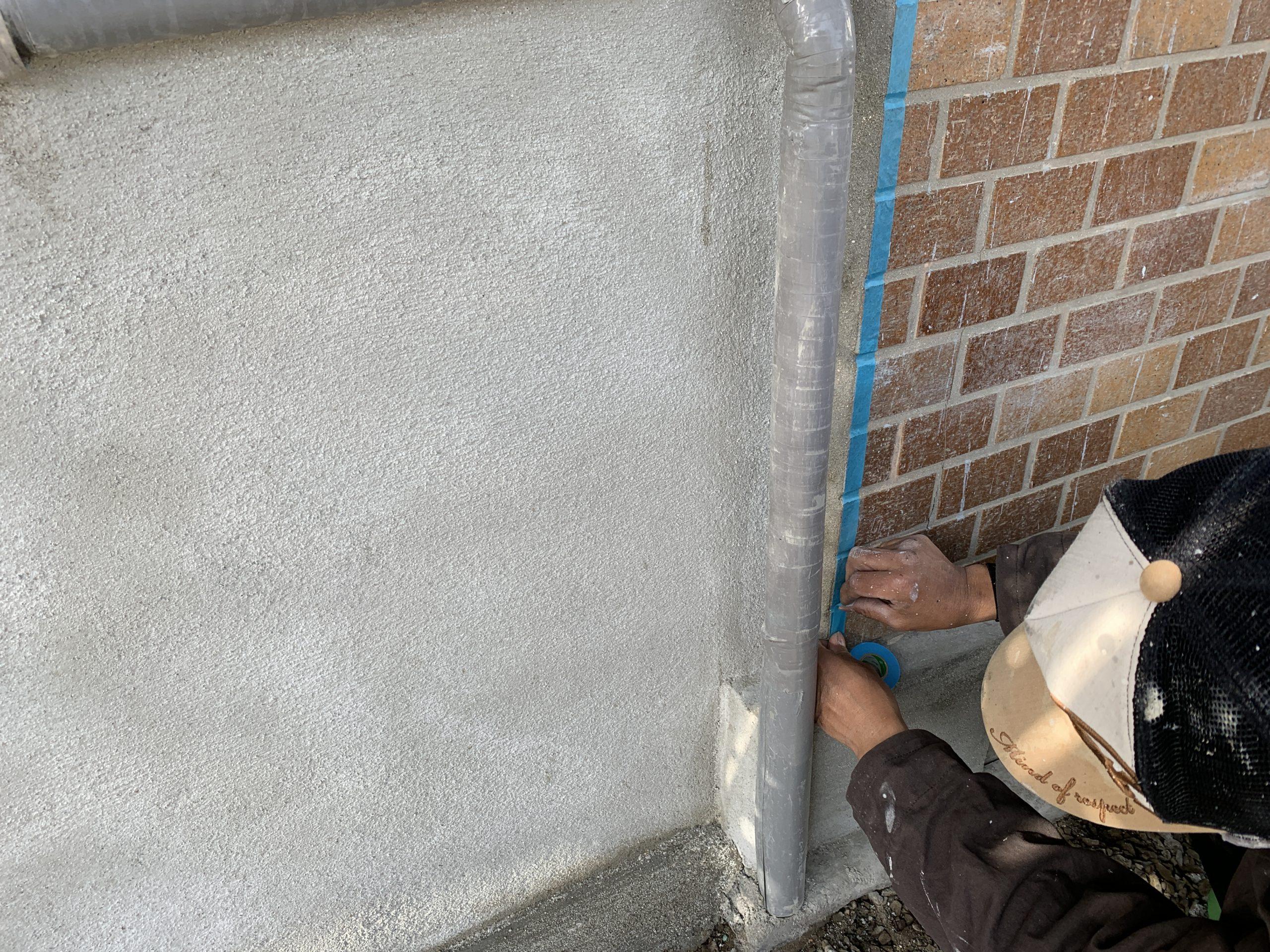 外壁塗装 佐賀 外壁 モルタル壁 養生