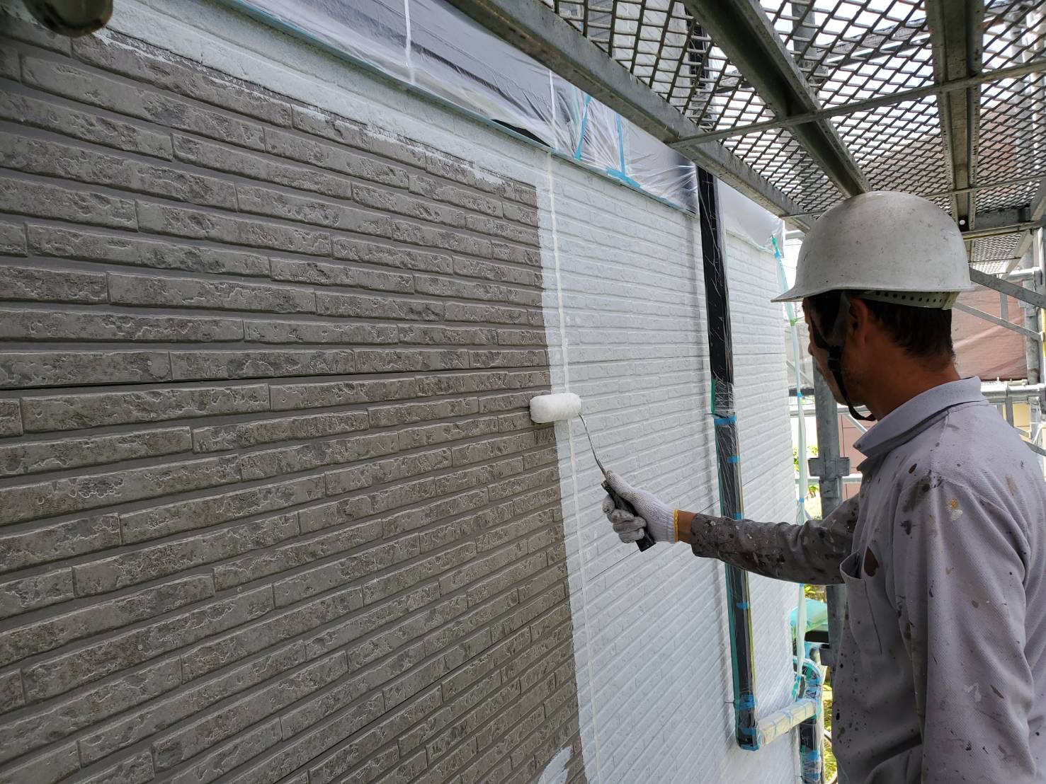 外壁塗装 佐賀 外壁 サイディング 塗装 下塗り