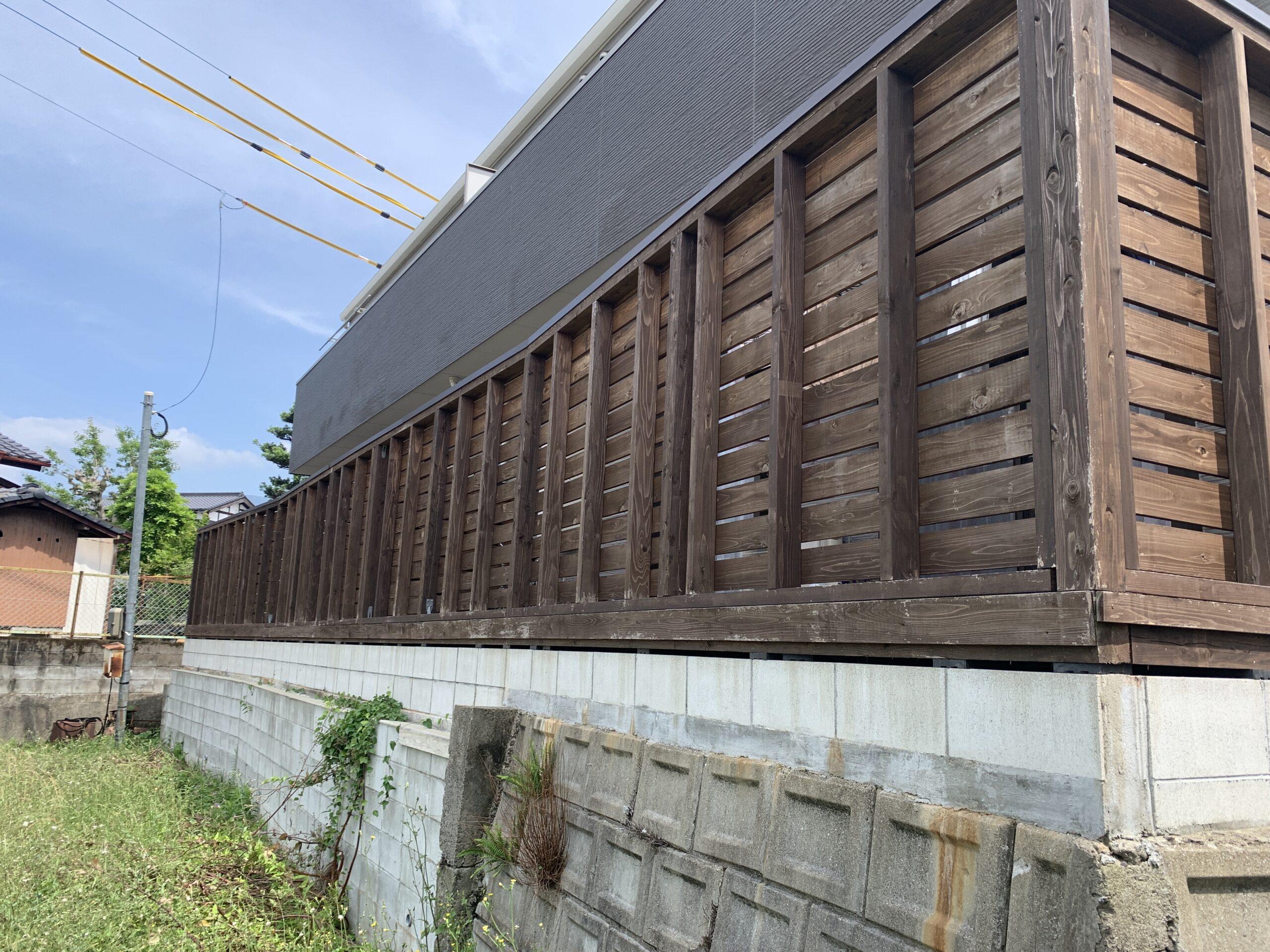 ウッドデッキ 佐賀市 外壁塗装 中津隈 サニー建設商事